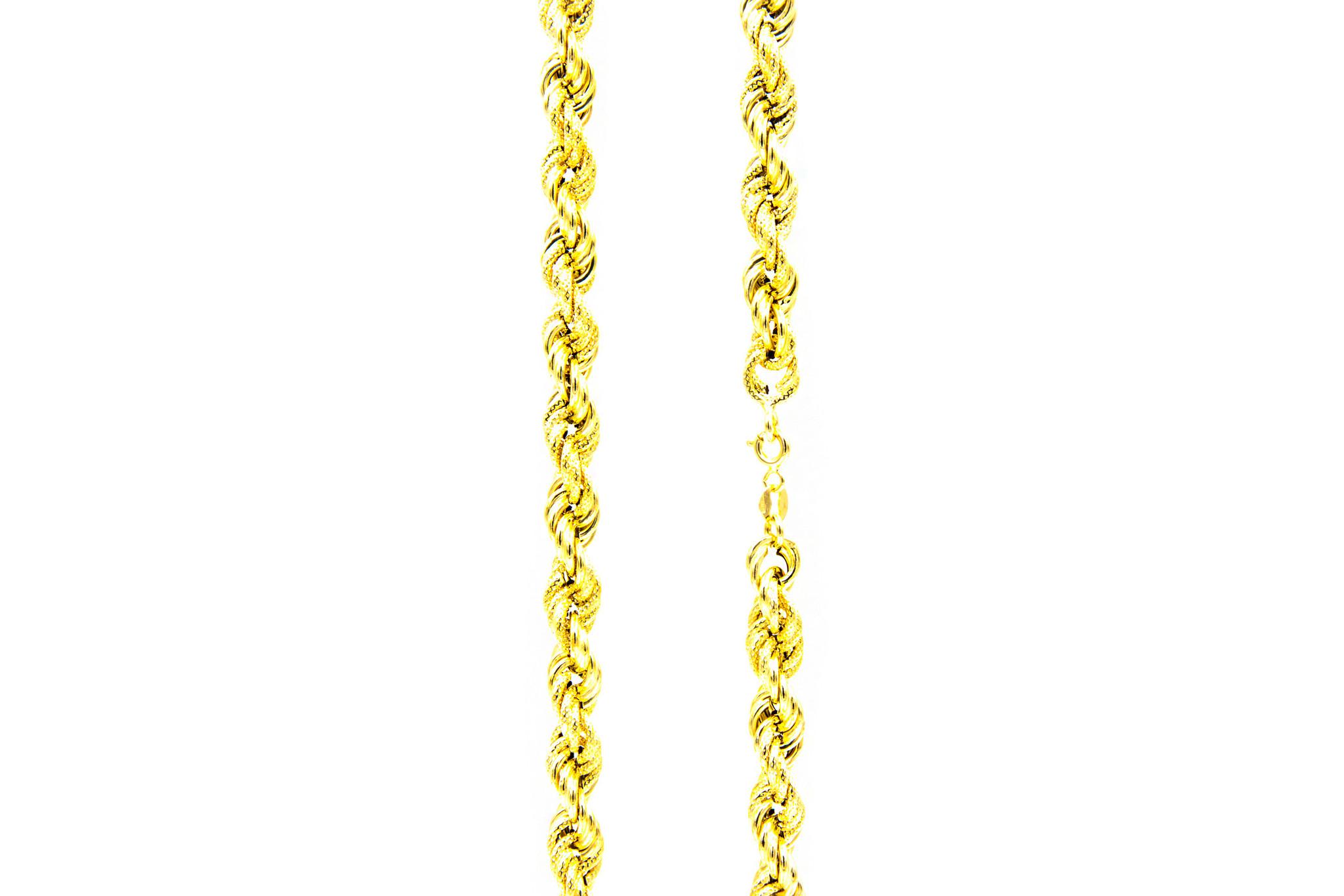 Ketting rope chain gedeeltelijk diamond cut-2