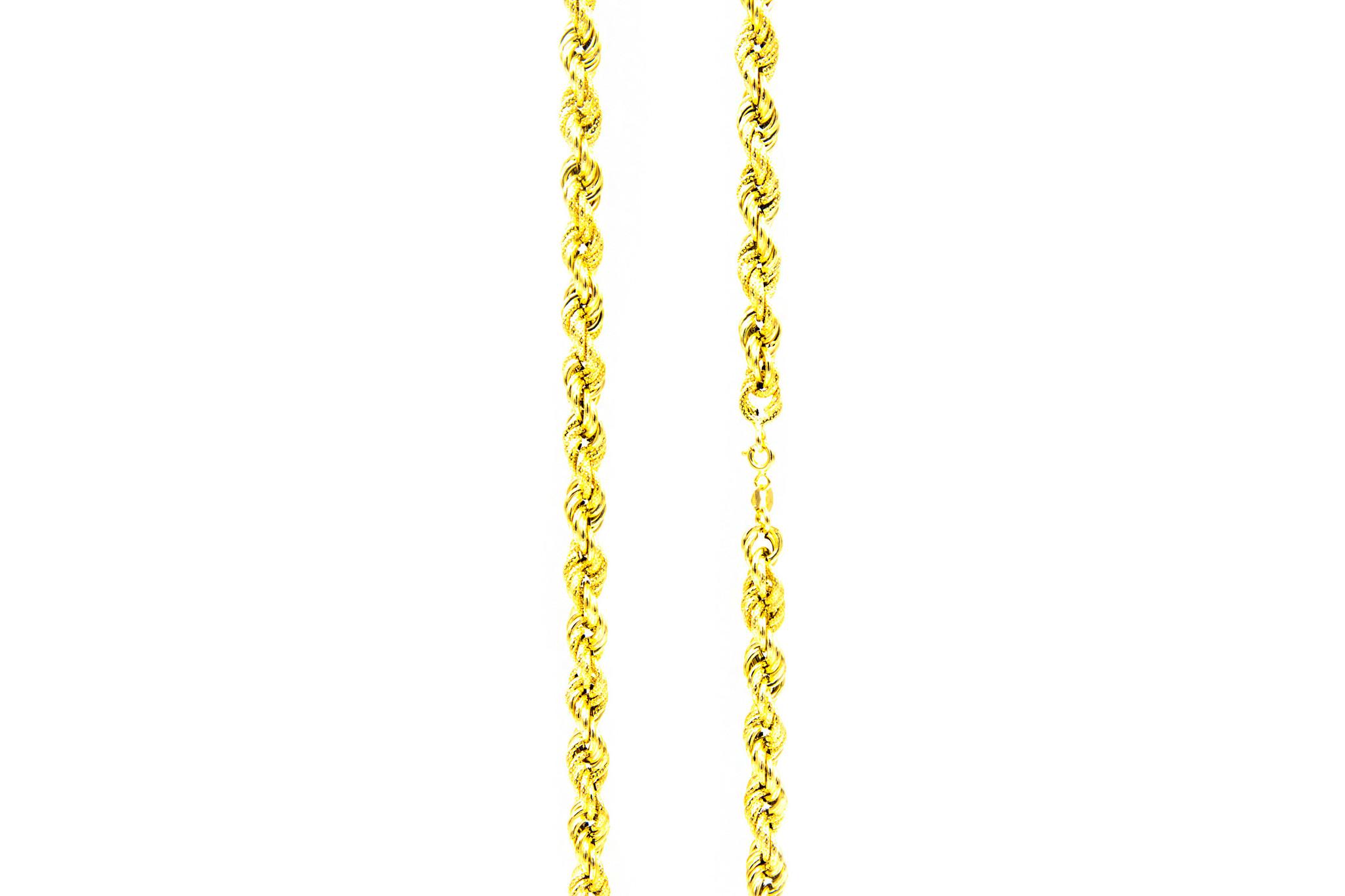 Ketting rope chain gedeeltelijk diamond cut-3