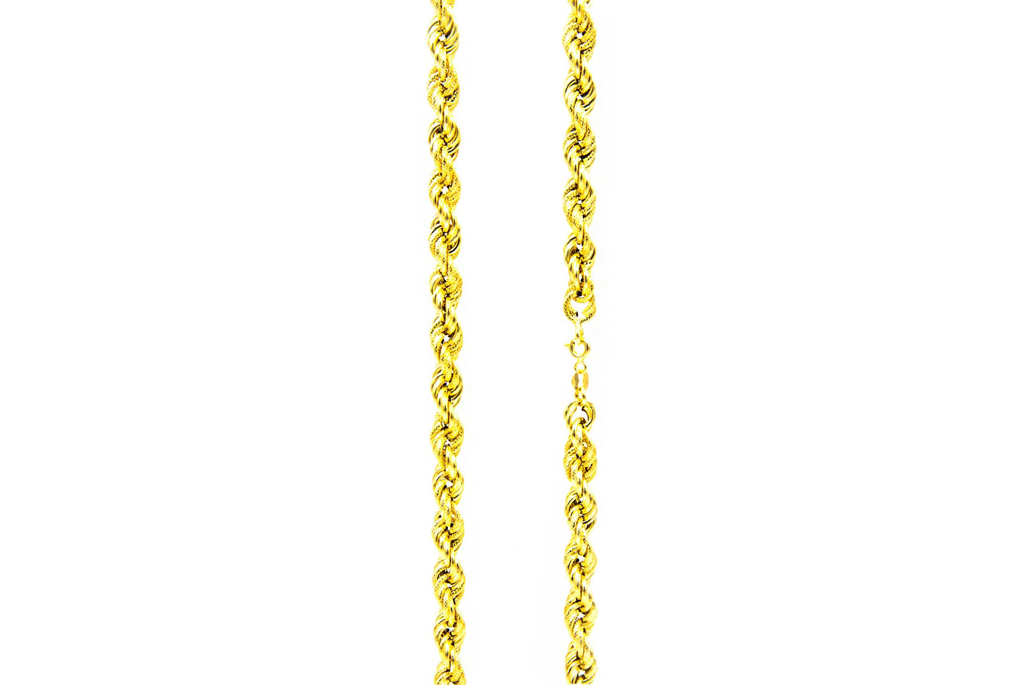 Ketting rope chain gedeeltelijk diamond cut-4