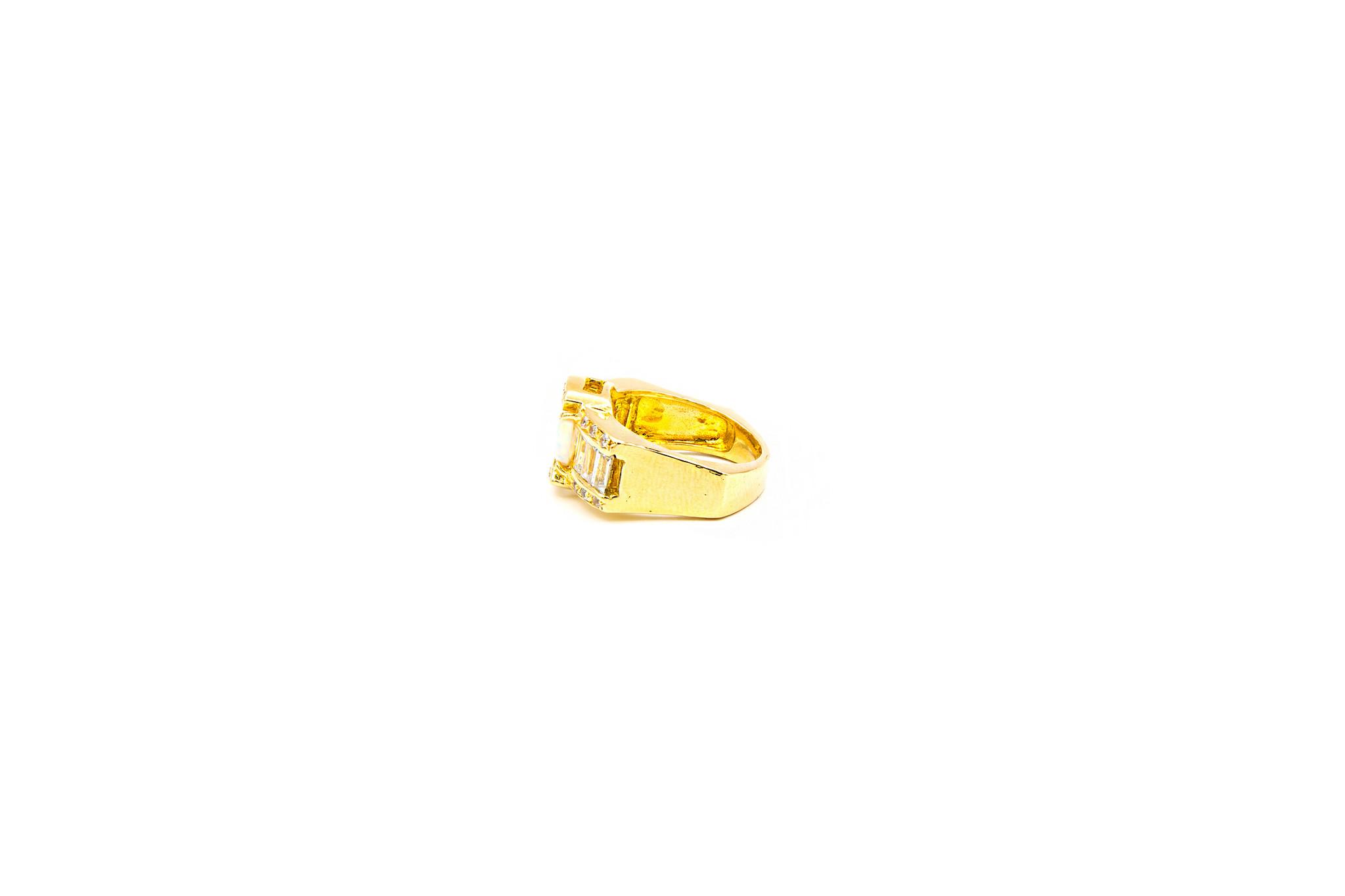 Ring met zirkonia's en Gilson opaal-3