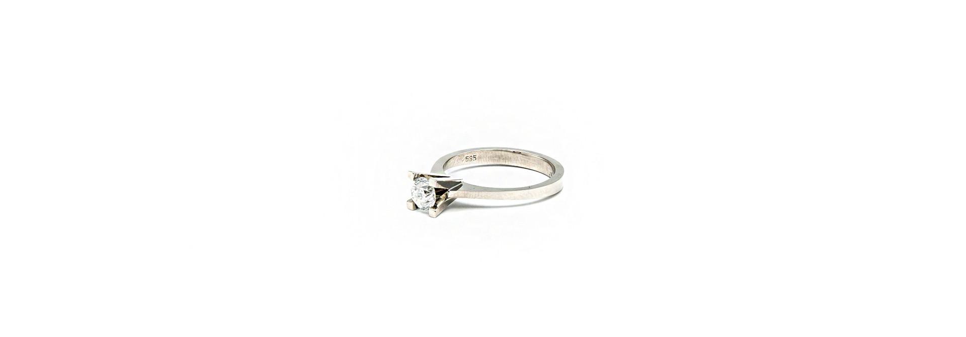 Ring solitair met diamant