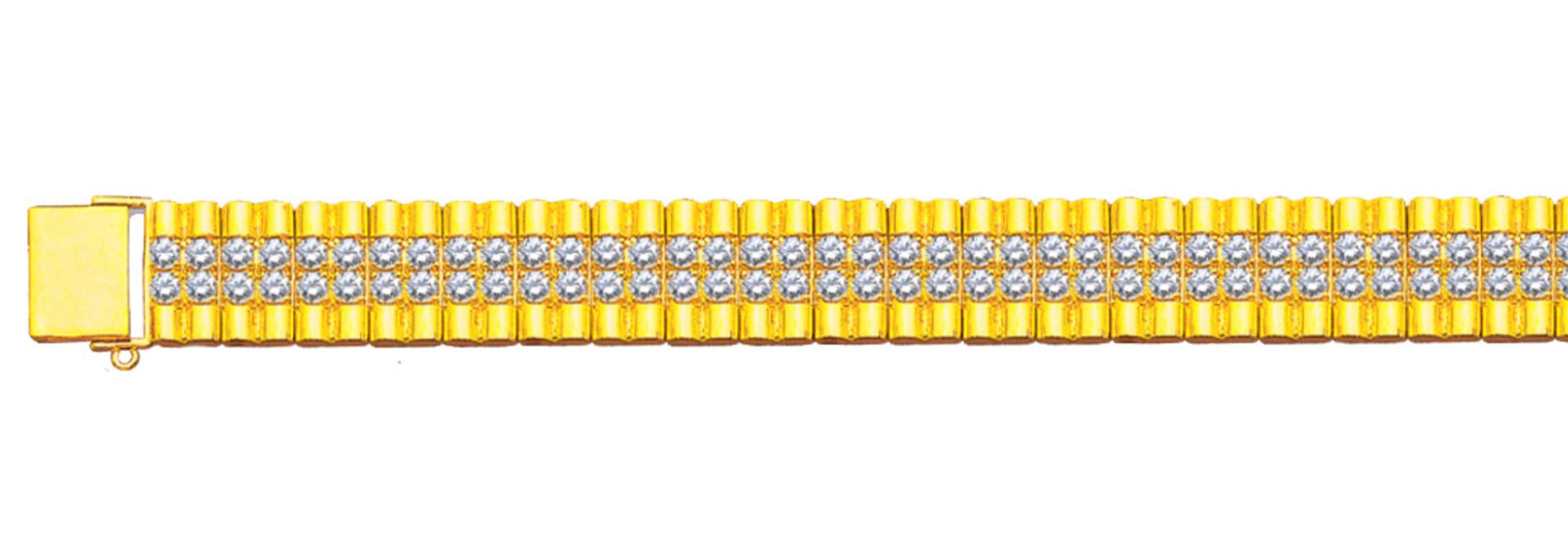 Rolexschakel armband bezet met zirkonia's