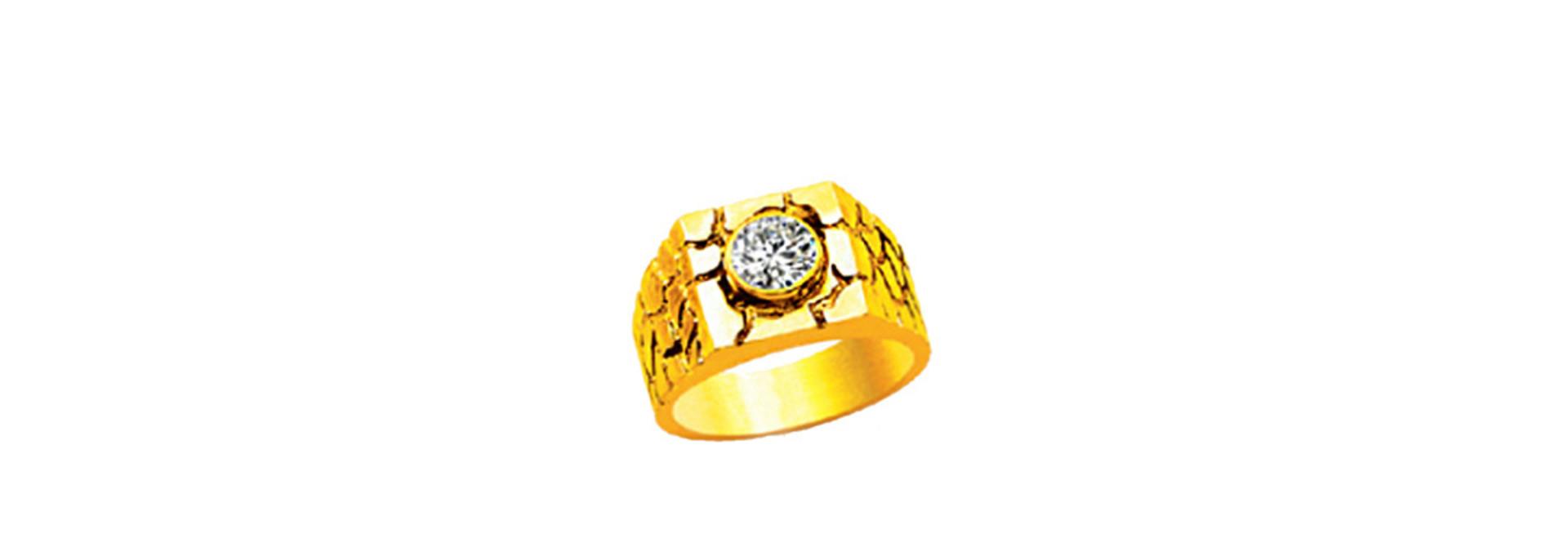 Piet piet zegelring ingelegd met diamant of zirkonia