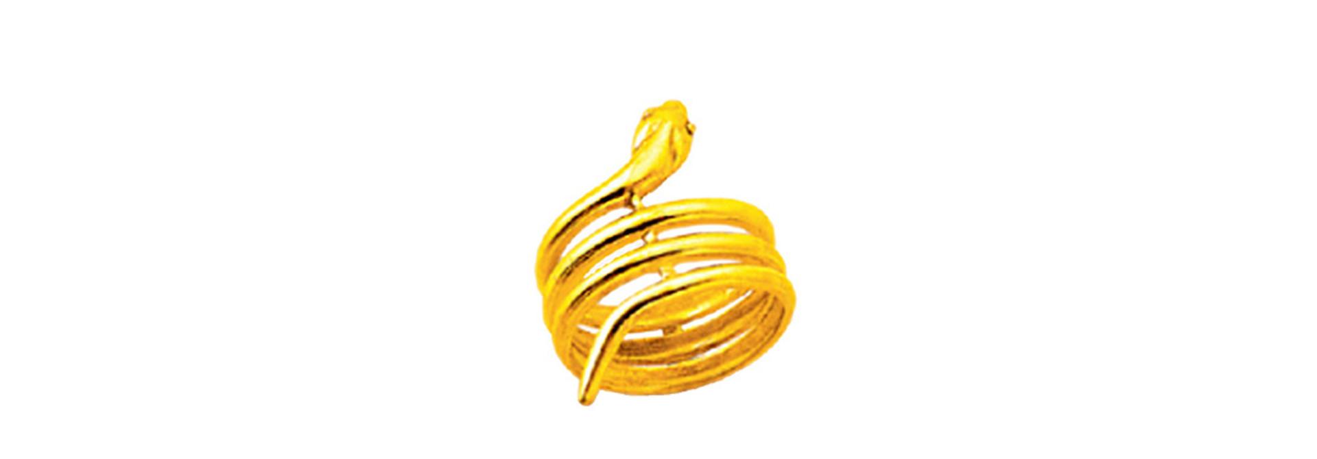 Brede slang ring