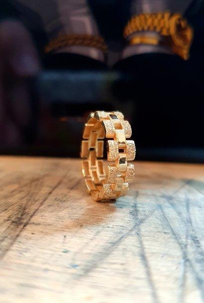 """""""Bastiaan"""" ring Rolexschakel vast smal glanzend/gematteerd"""