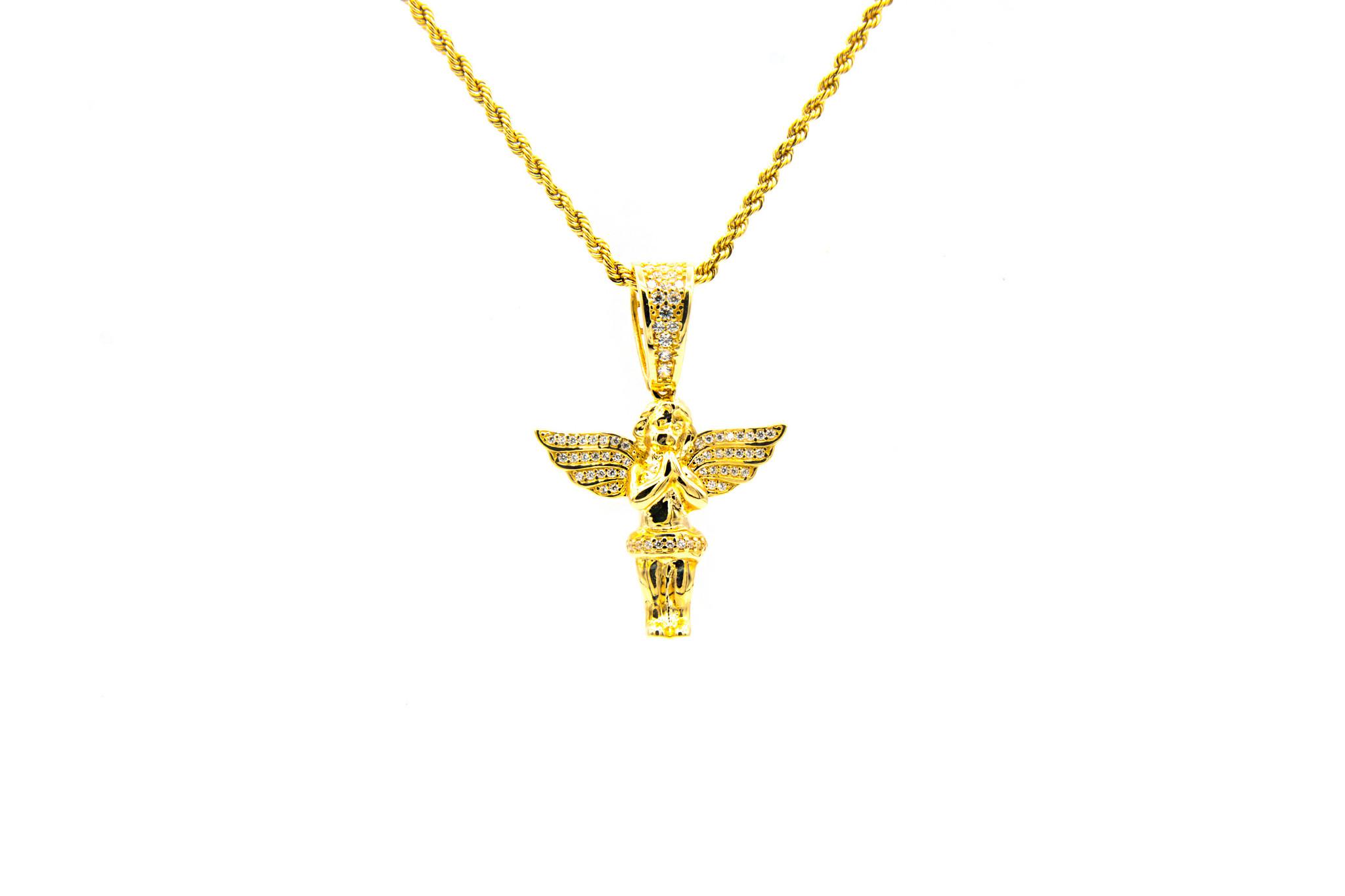 Hanger engel met zirkonia's-1