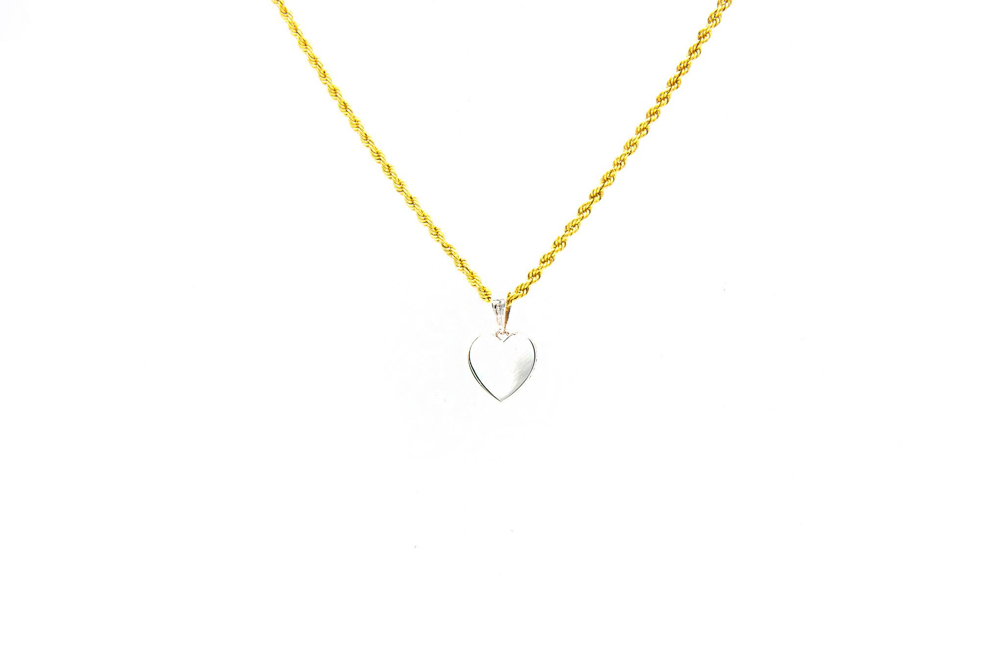Hanger hart witgoud bezet met zirkonia's-2