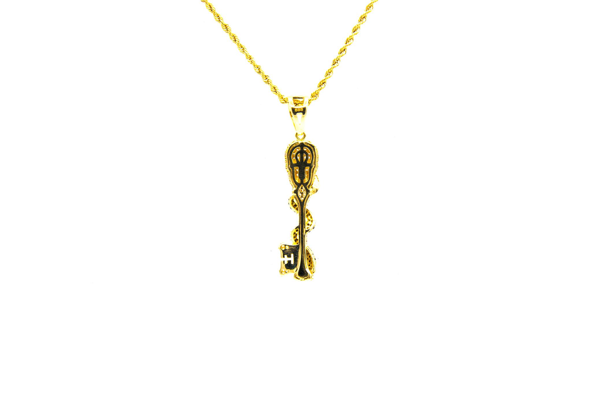 Hanger skull en slang bezet in 2 kleuren zirkonia's-2