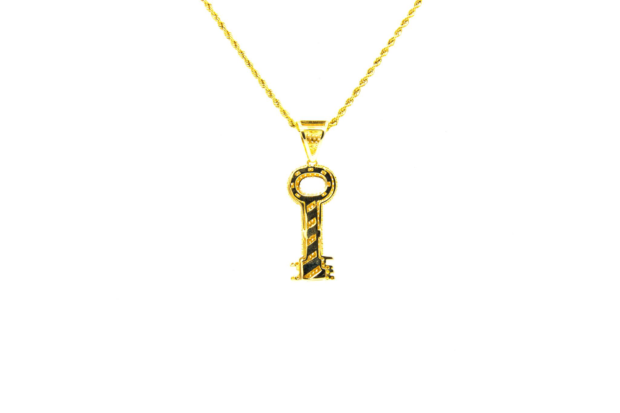 Hanger sleutel bezet met zirkonia's-2