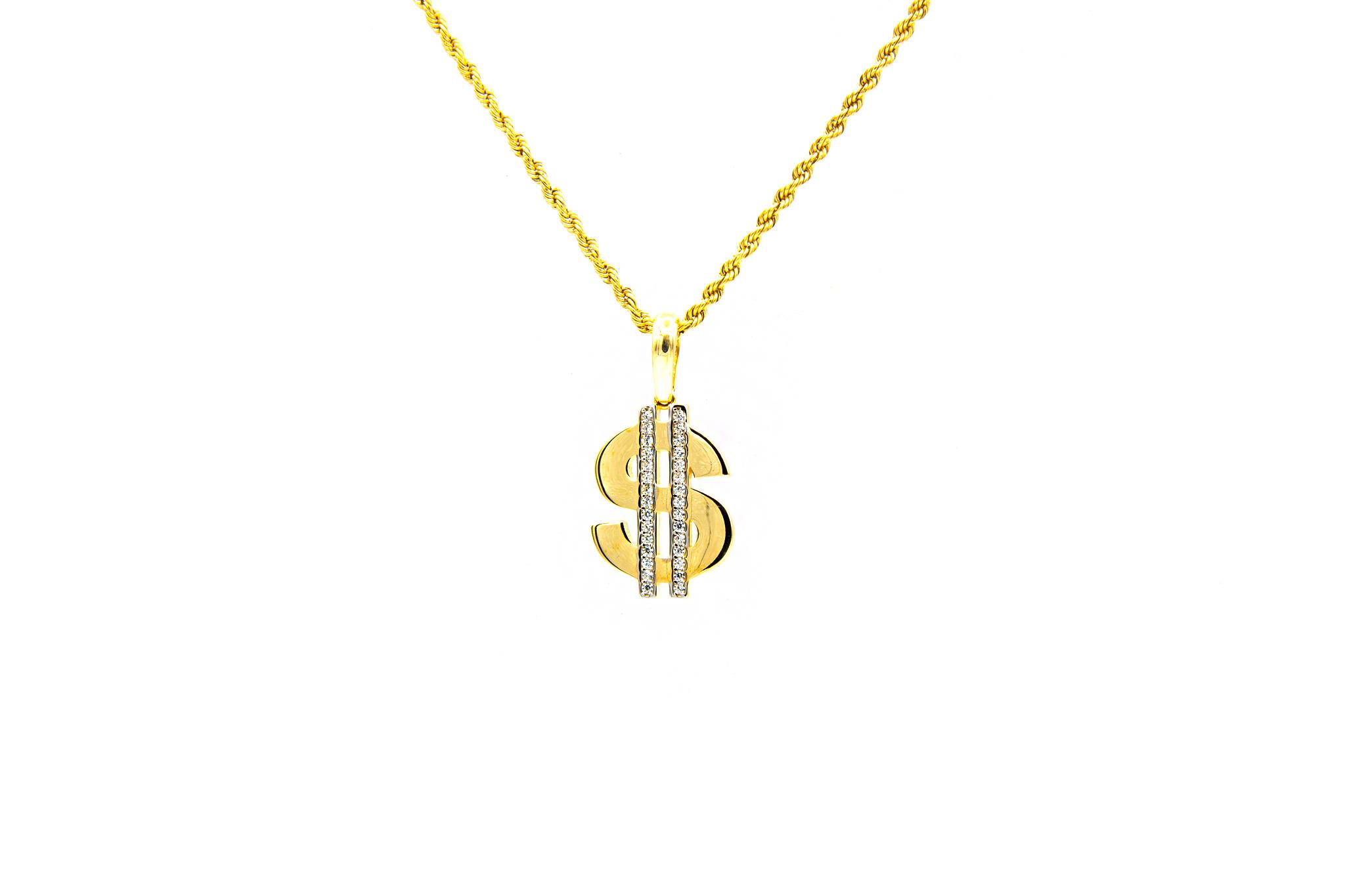 Hanger dollar bezet met zirkonia's-1