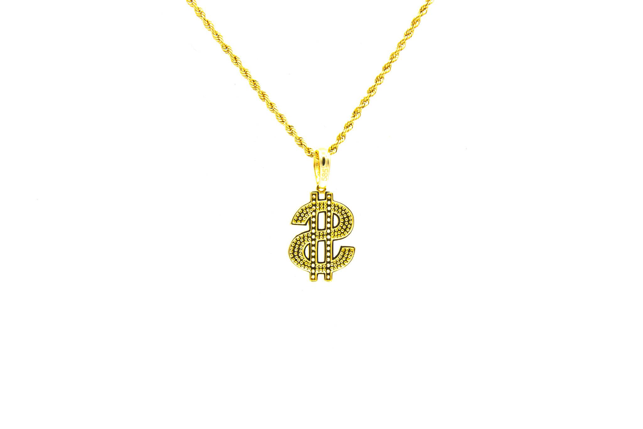 Hanger dollar bezet met zirkonia's-2