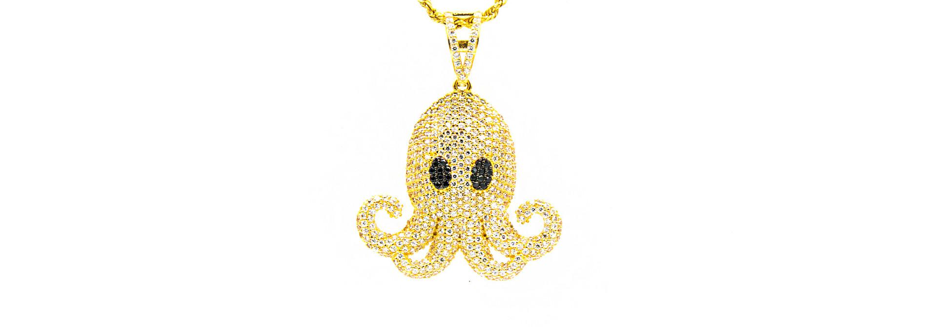 Hanger octopus met zirkonia