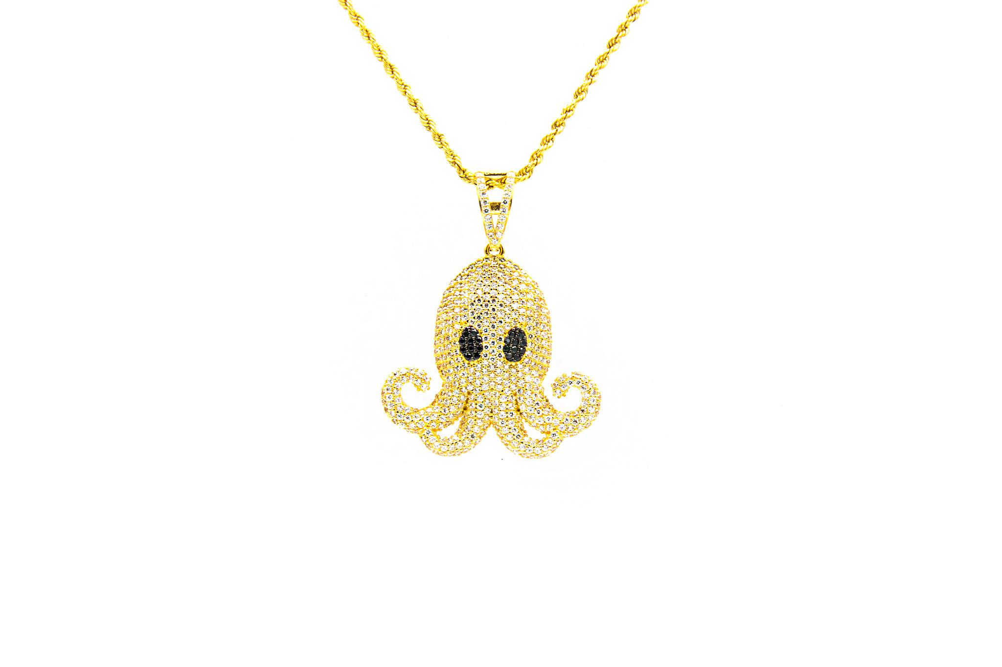 Hanger octopus met zirkonia-1