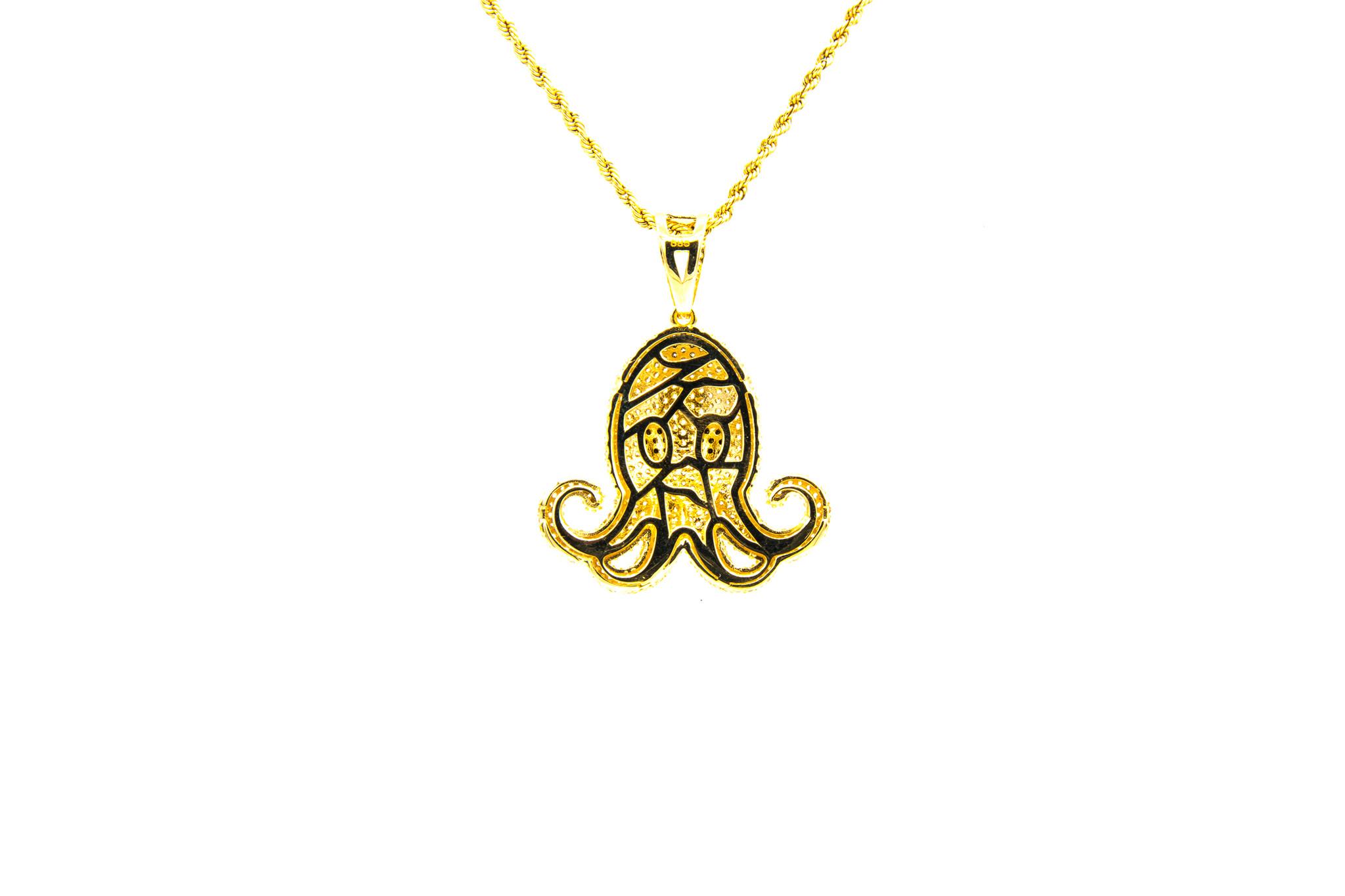 Hanger octopus met zirkonia-2