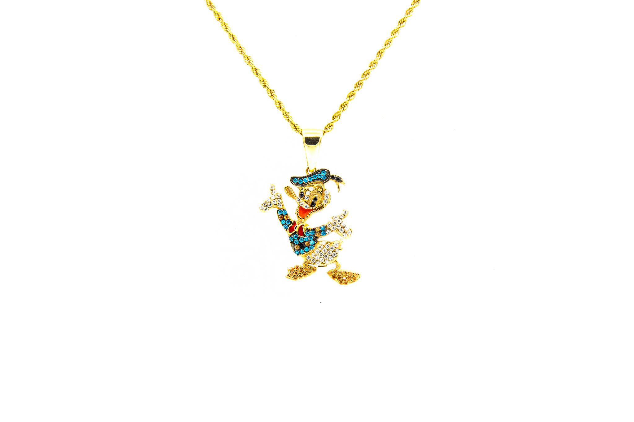 Hanger Donald Duck met zirkonia-1