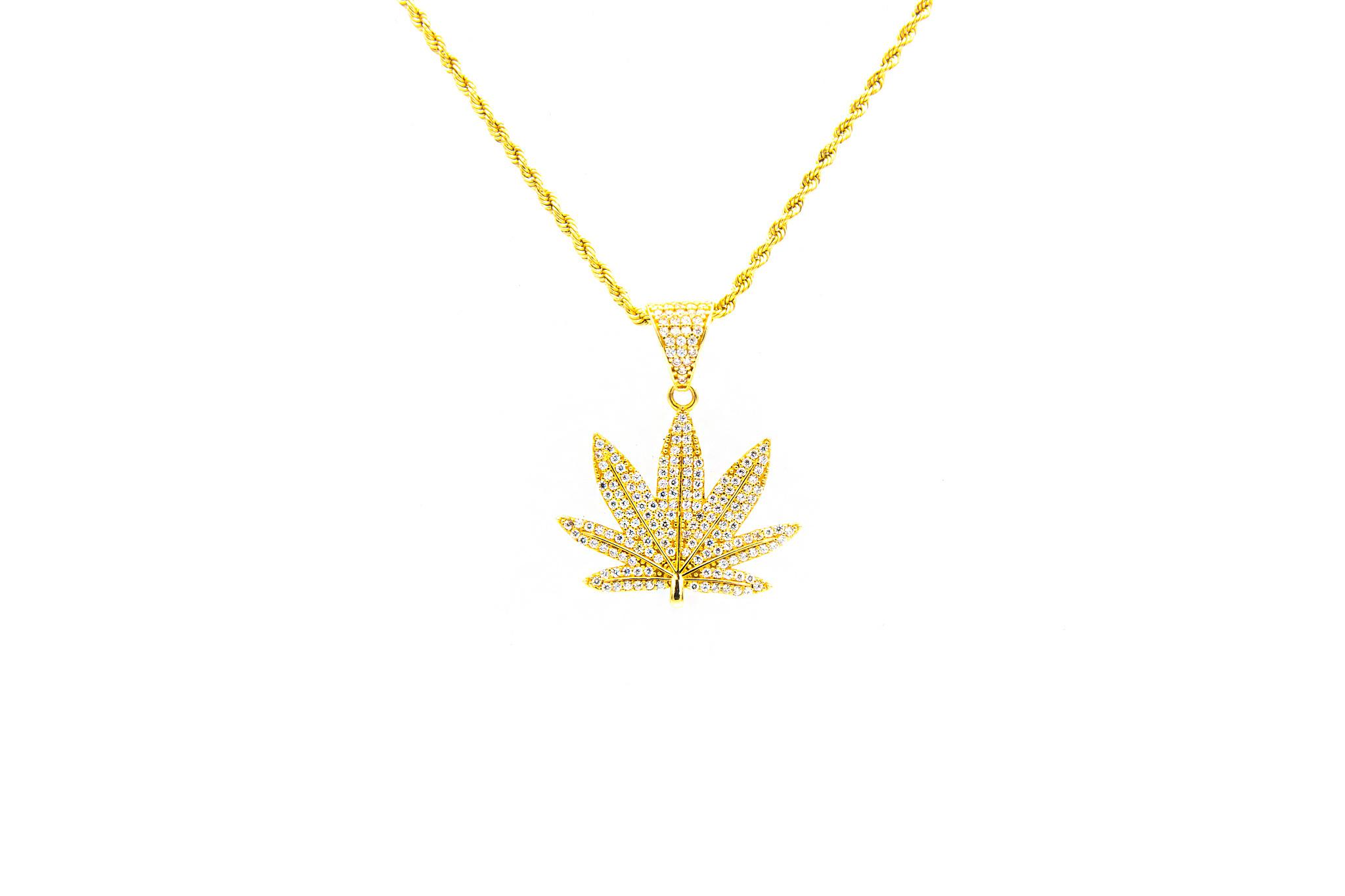 Hanger Cannabis wietblad-1