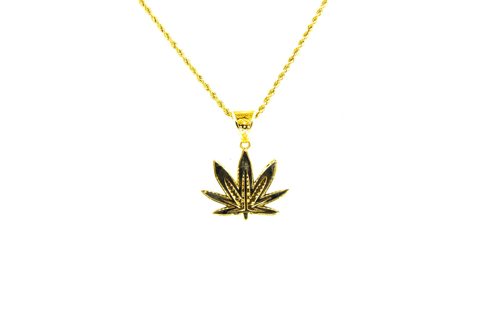 Hanger Cannabis wietblad-2