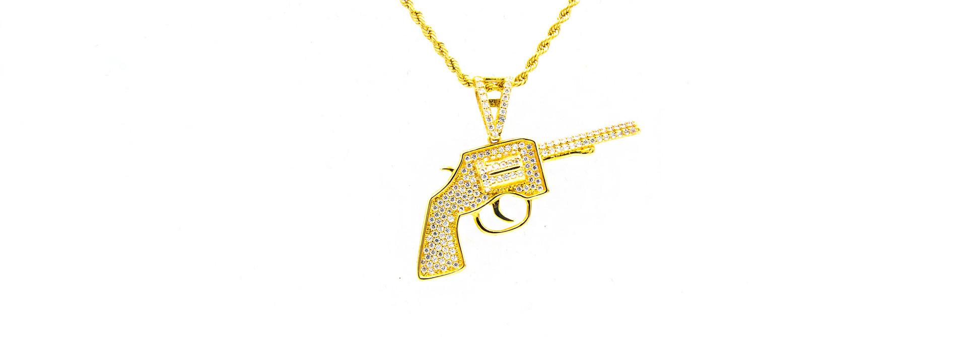 Hanger pistool met zirkonia's