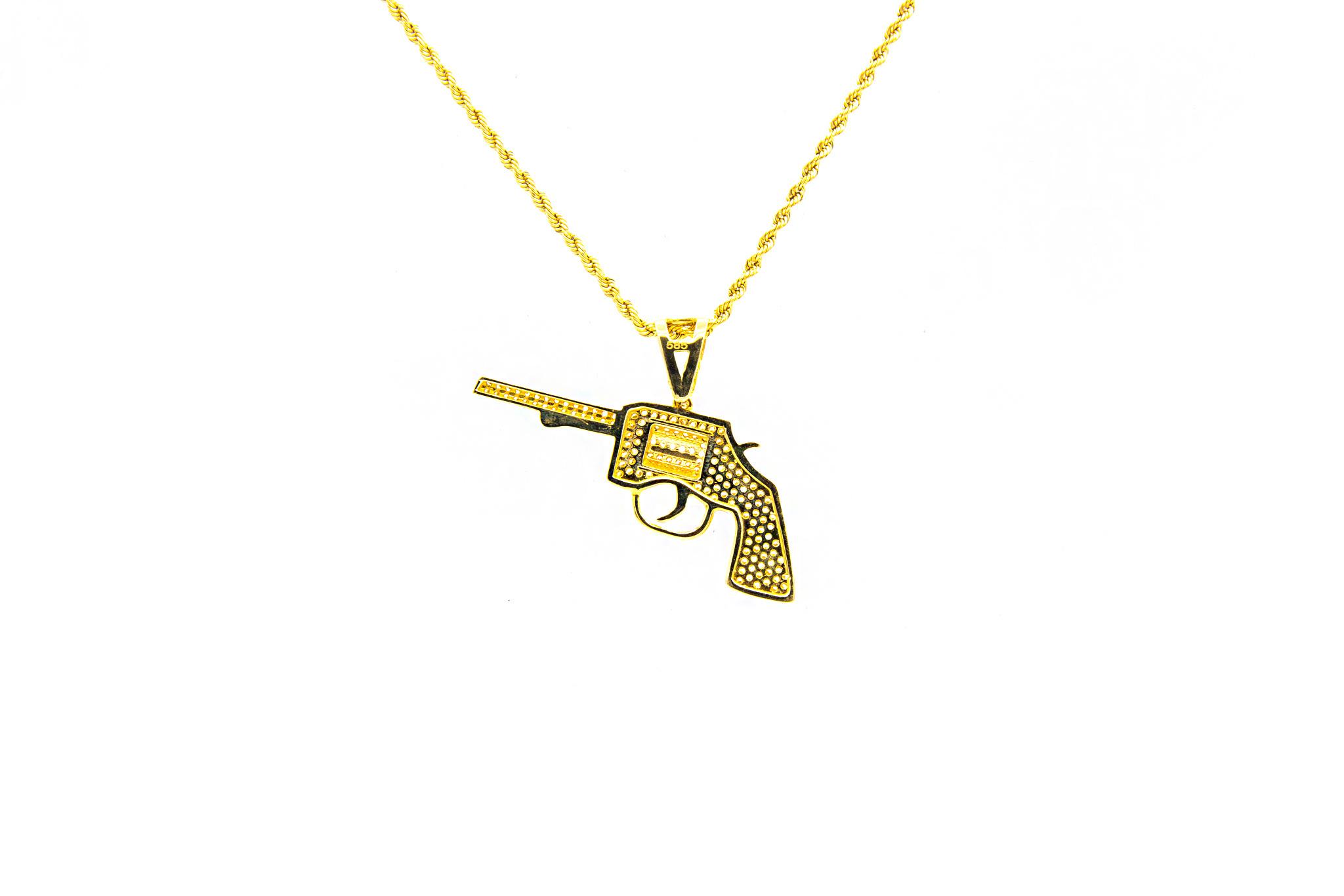 Hanger pistool met zirkonia's-2