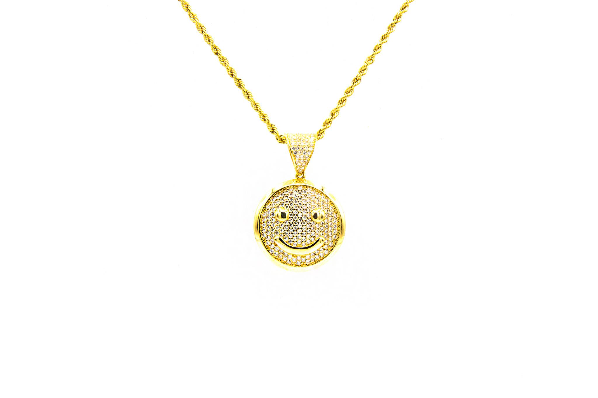 Hanger smiley met zirkonia's-1