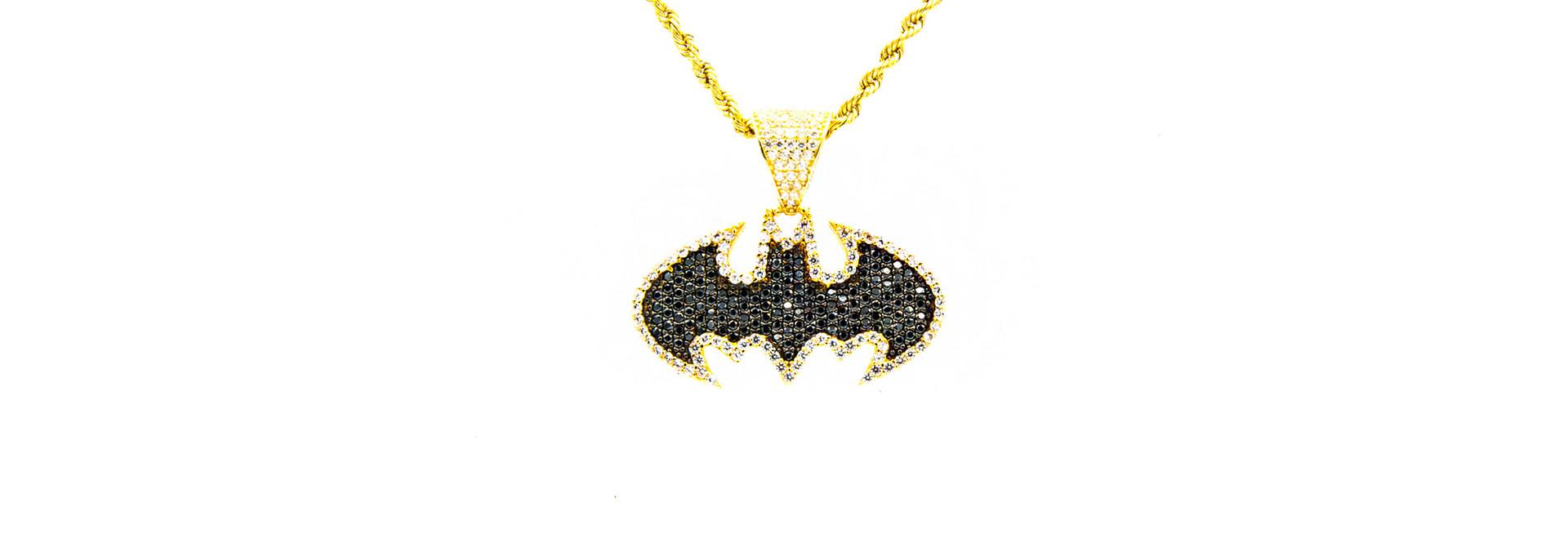 Hanger Batman met 2 kleuren zirkonia's