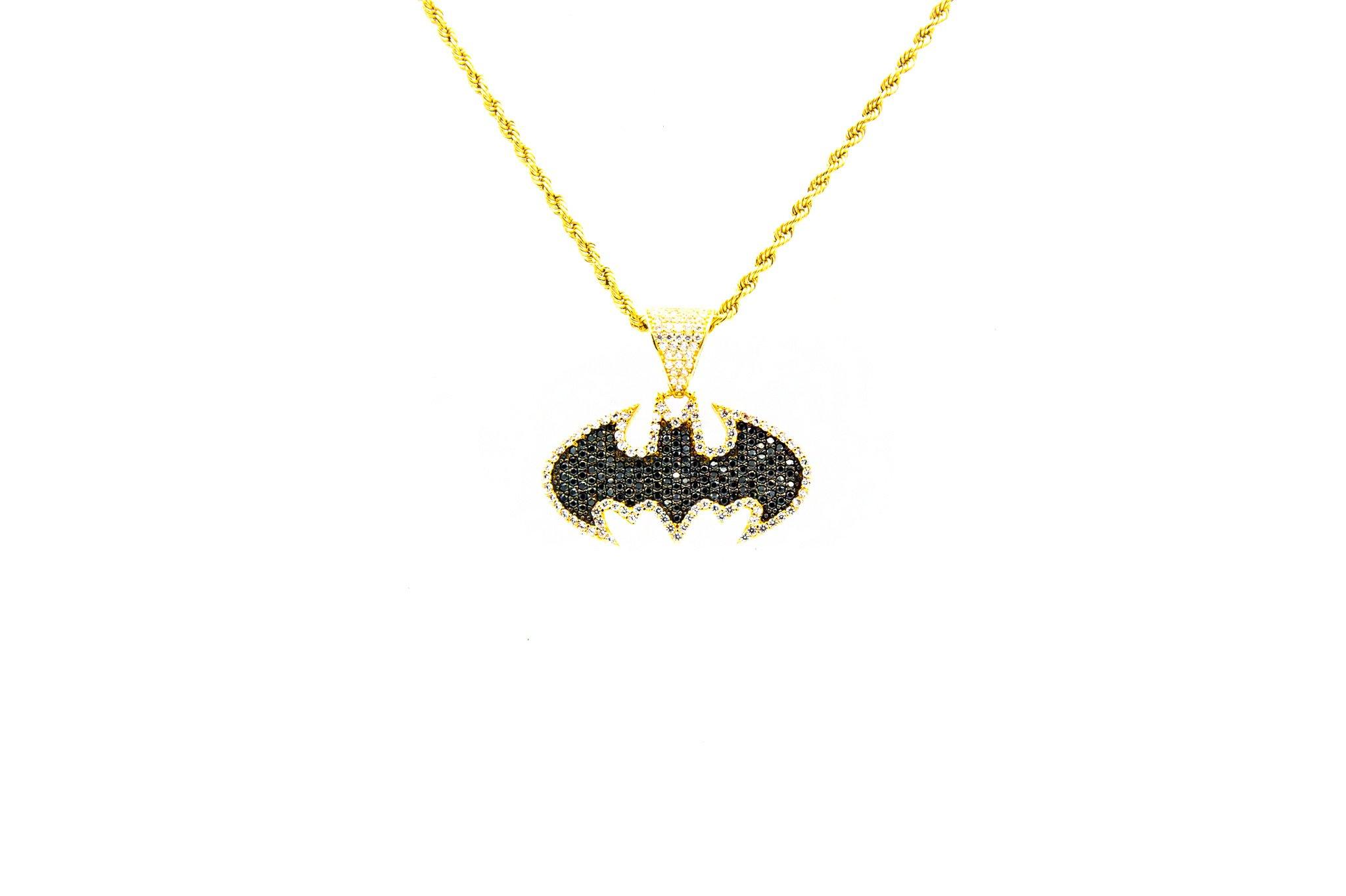 Hanger Batman met 2 kleuren zirkonia's-1