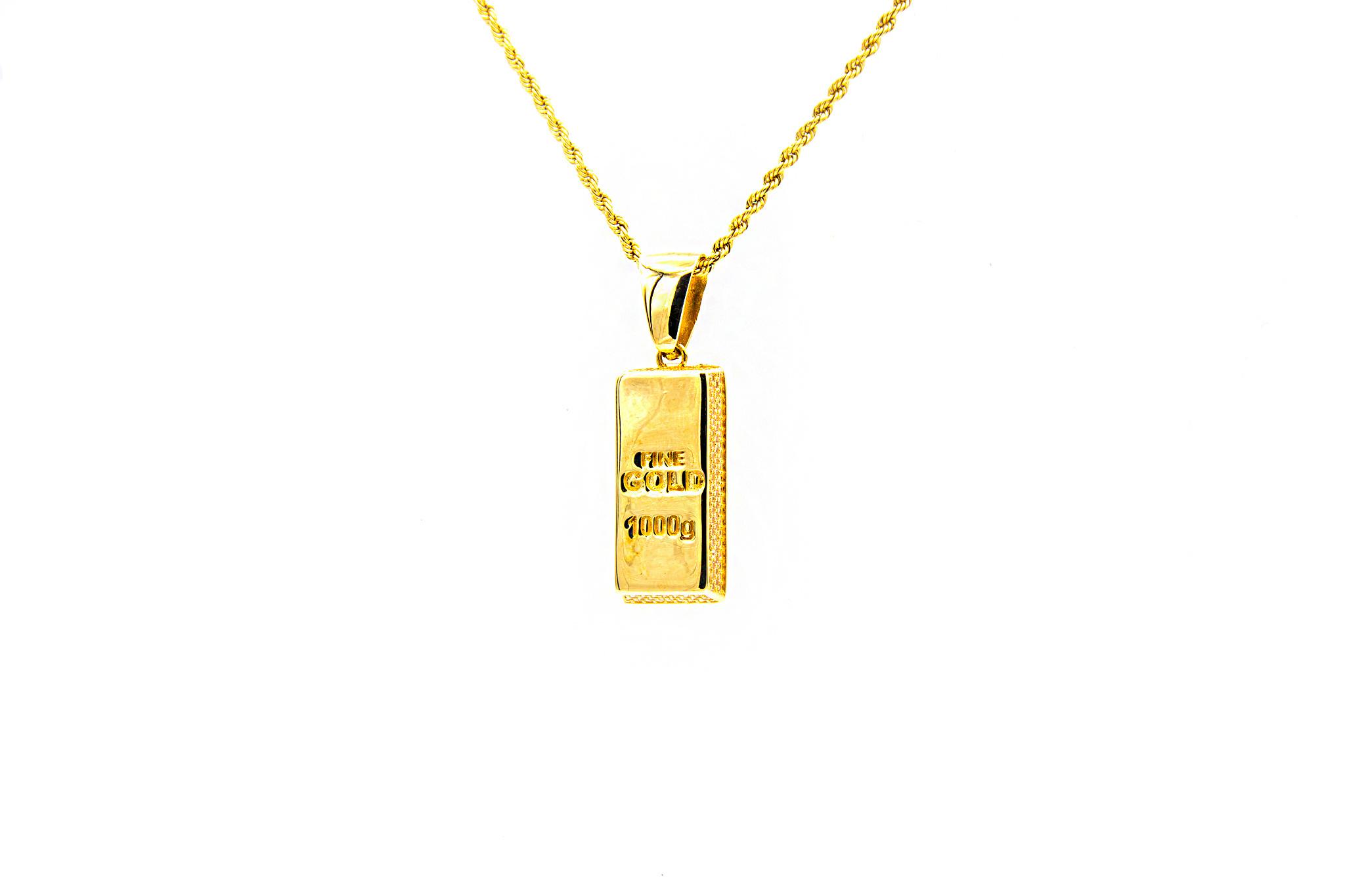 Hanger goudbaar met zirkonia's-1