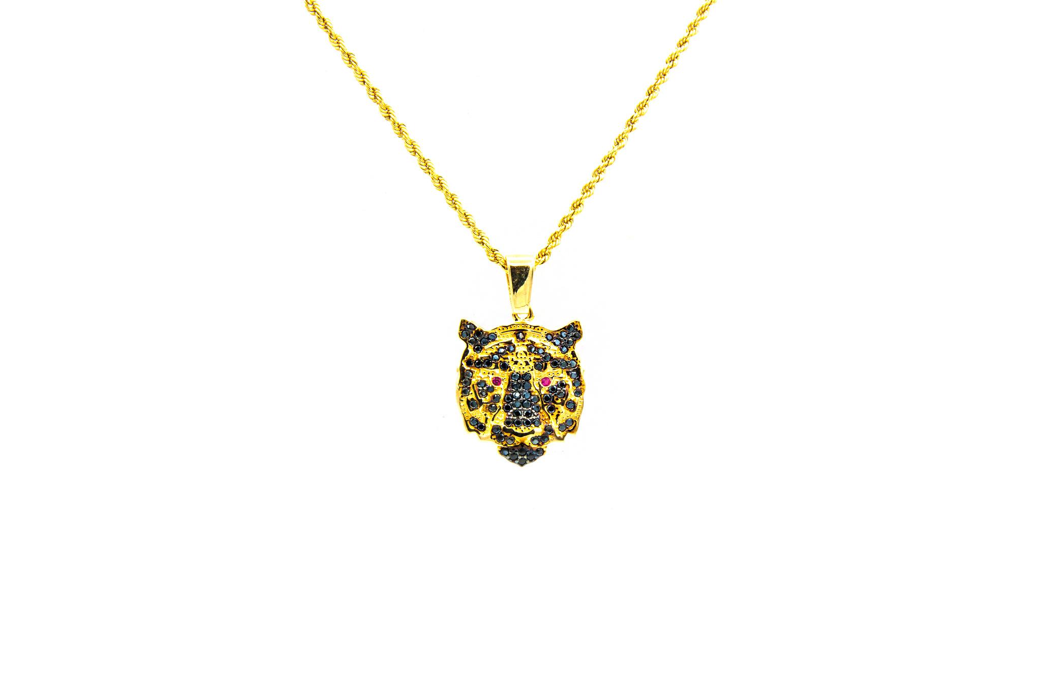 Hanger tijger bezet in 2 kleuren zirkonia's-1