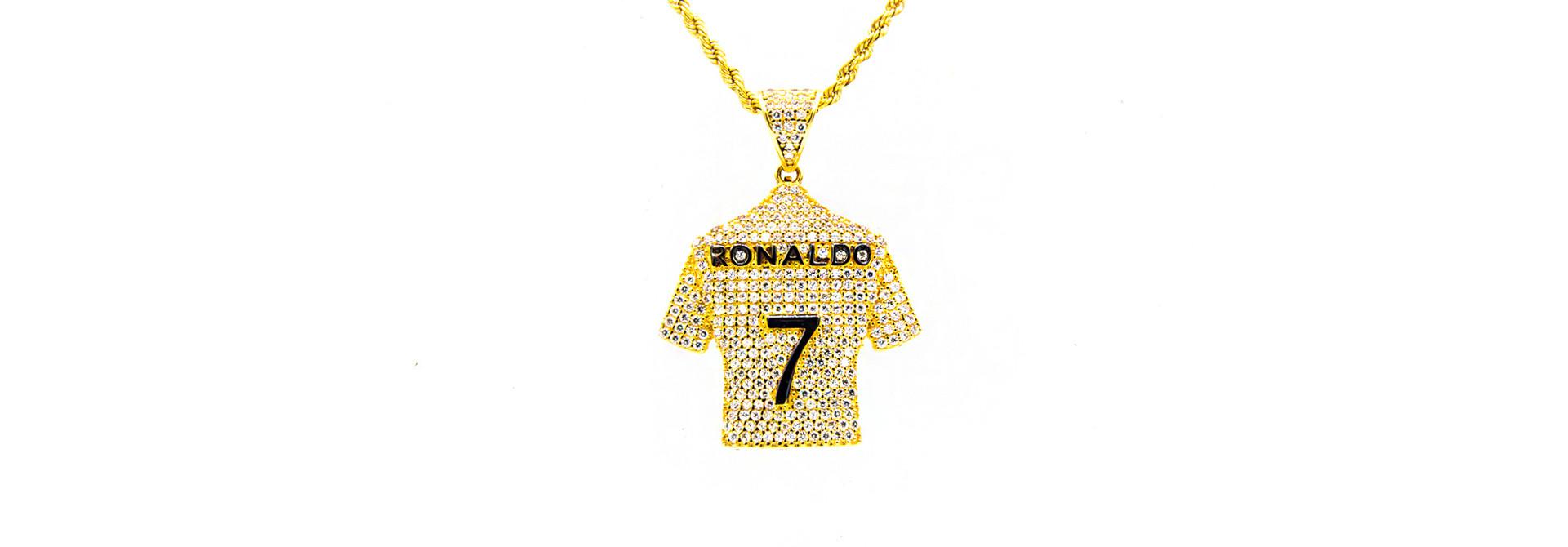 Hanger Ronaldo shirt bezet met zirkonia