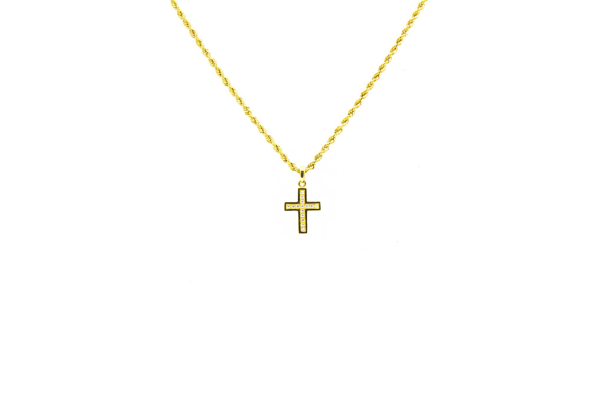 Hanger kruis bezet met zirkonia's-1