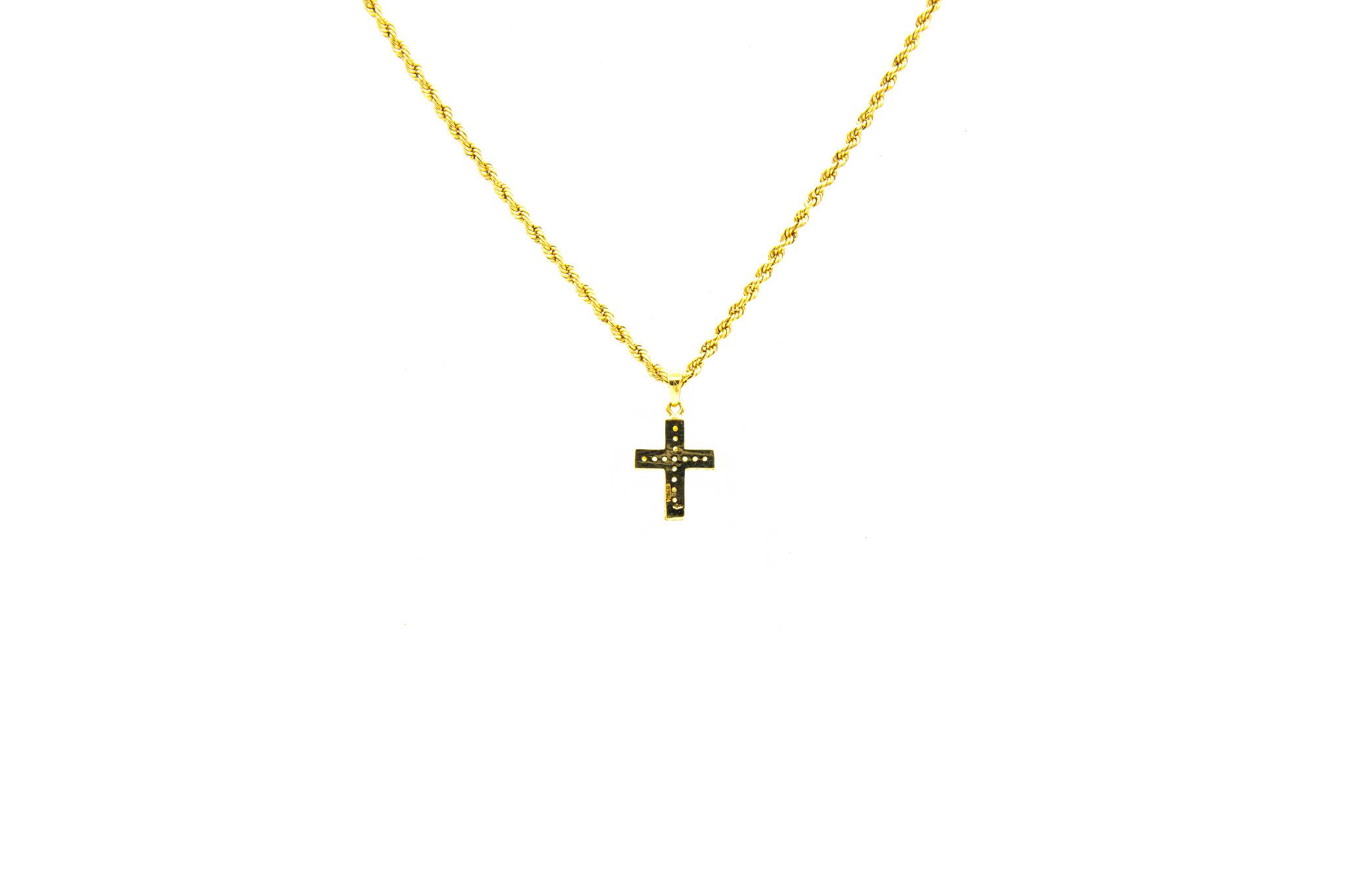 Hanger kruis bezet met zirkonia's-2