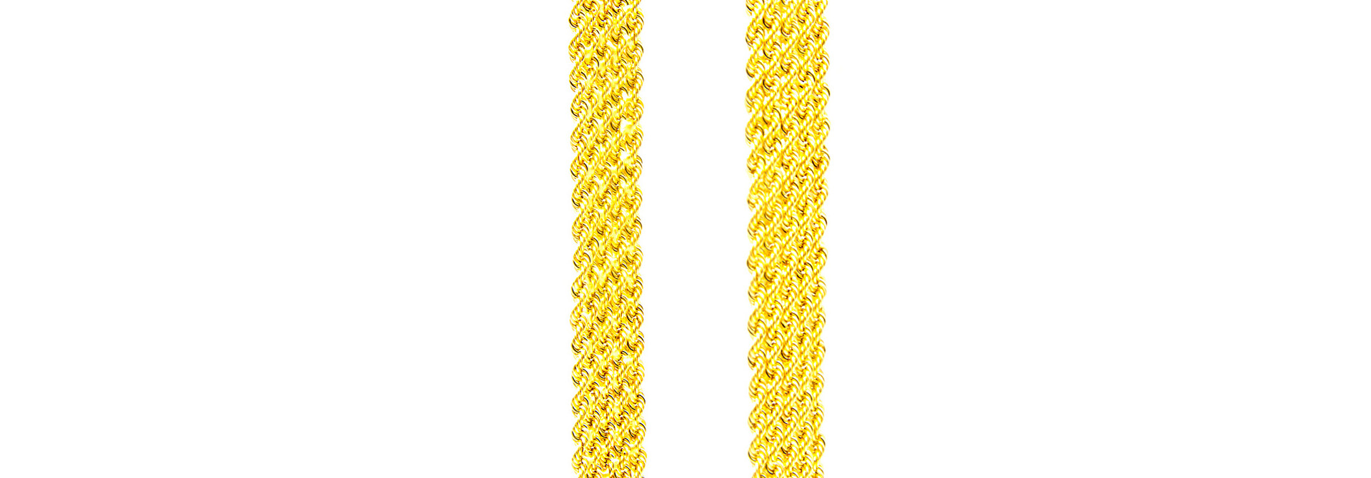 Collier brede rope chain