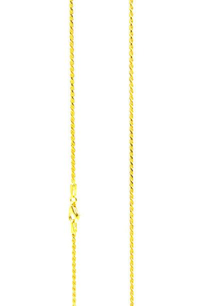 FOTO Rope Chain massief NL 18k-1.5mm  (afgeplat)