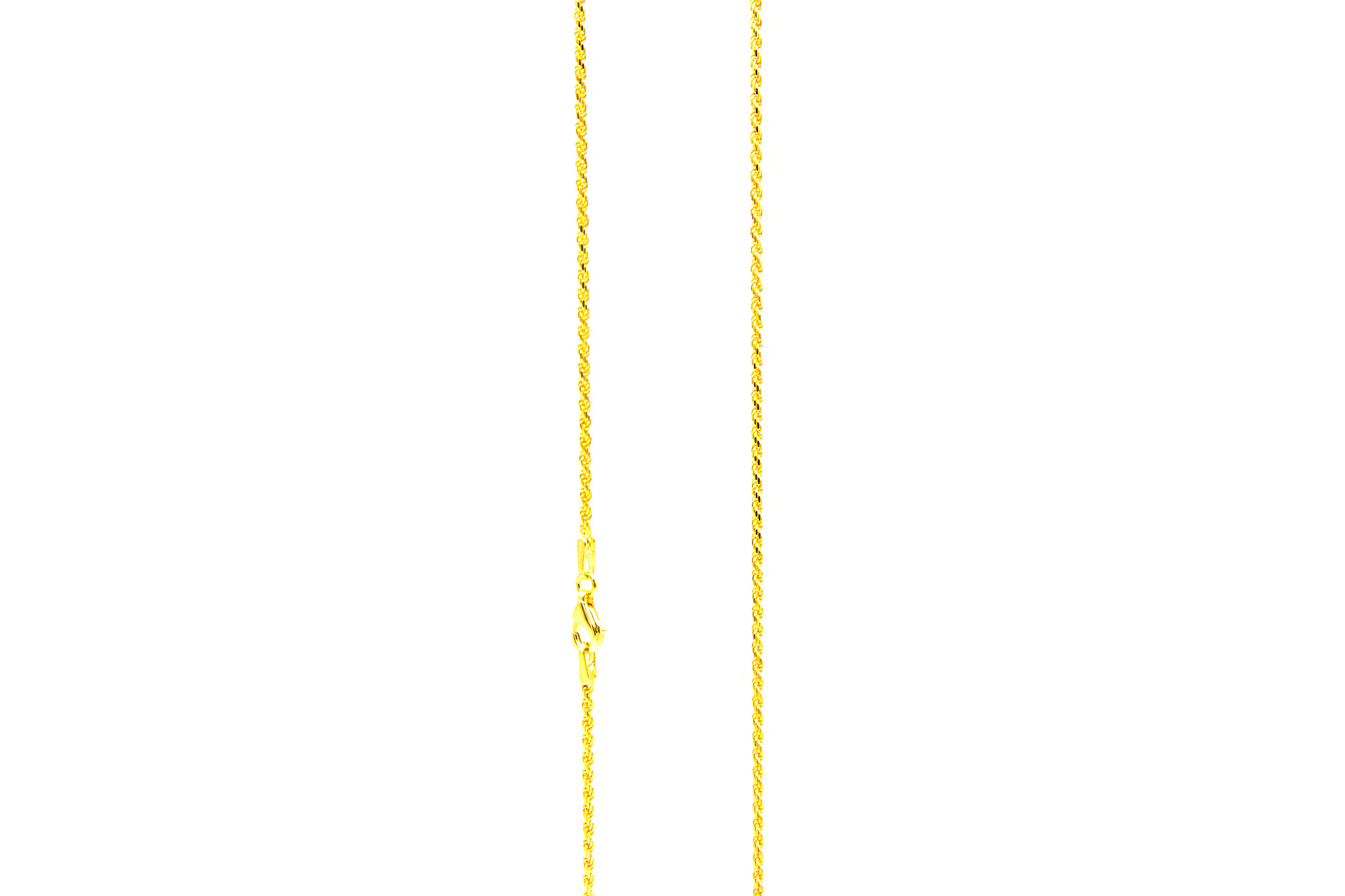 Rope chain cubic massief goud 18k 1.5mm-1