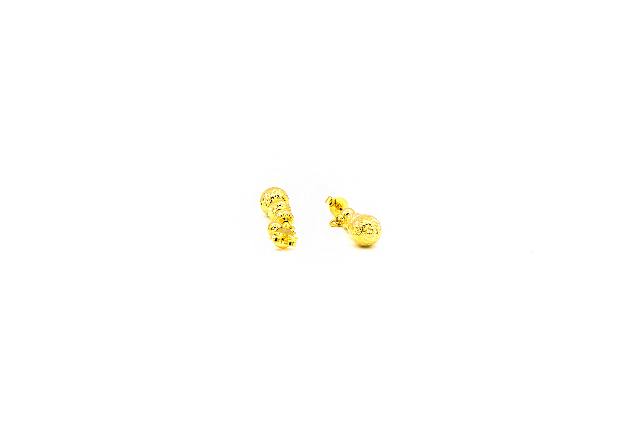 Oorbellen met gediamanteerde ballen-2