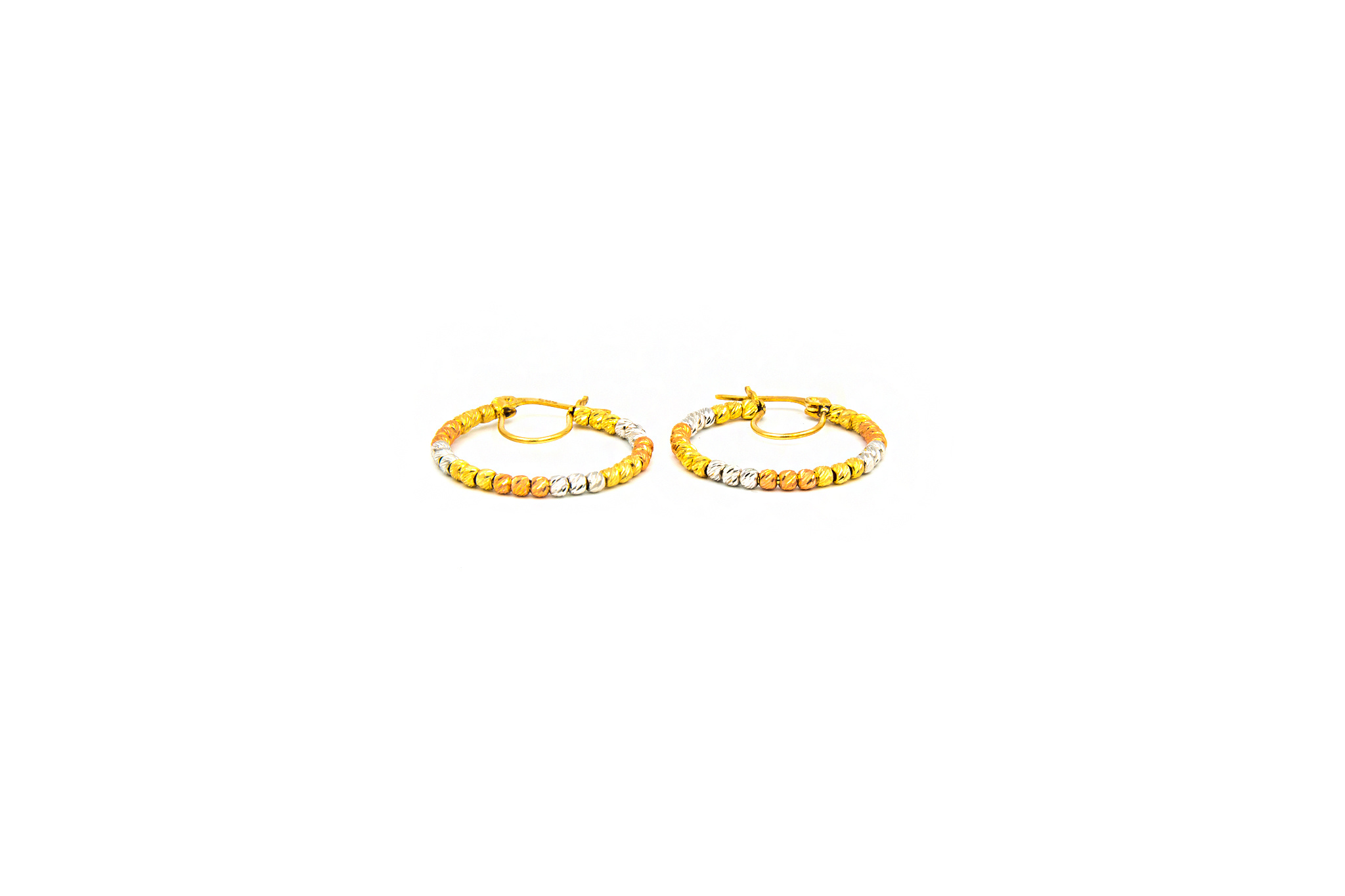 Oorbellen creolen tricolor gediamanteerde creolen large-1