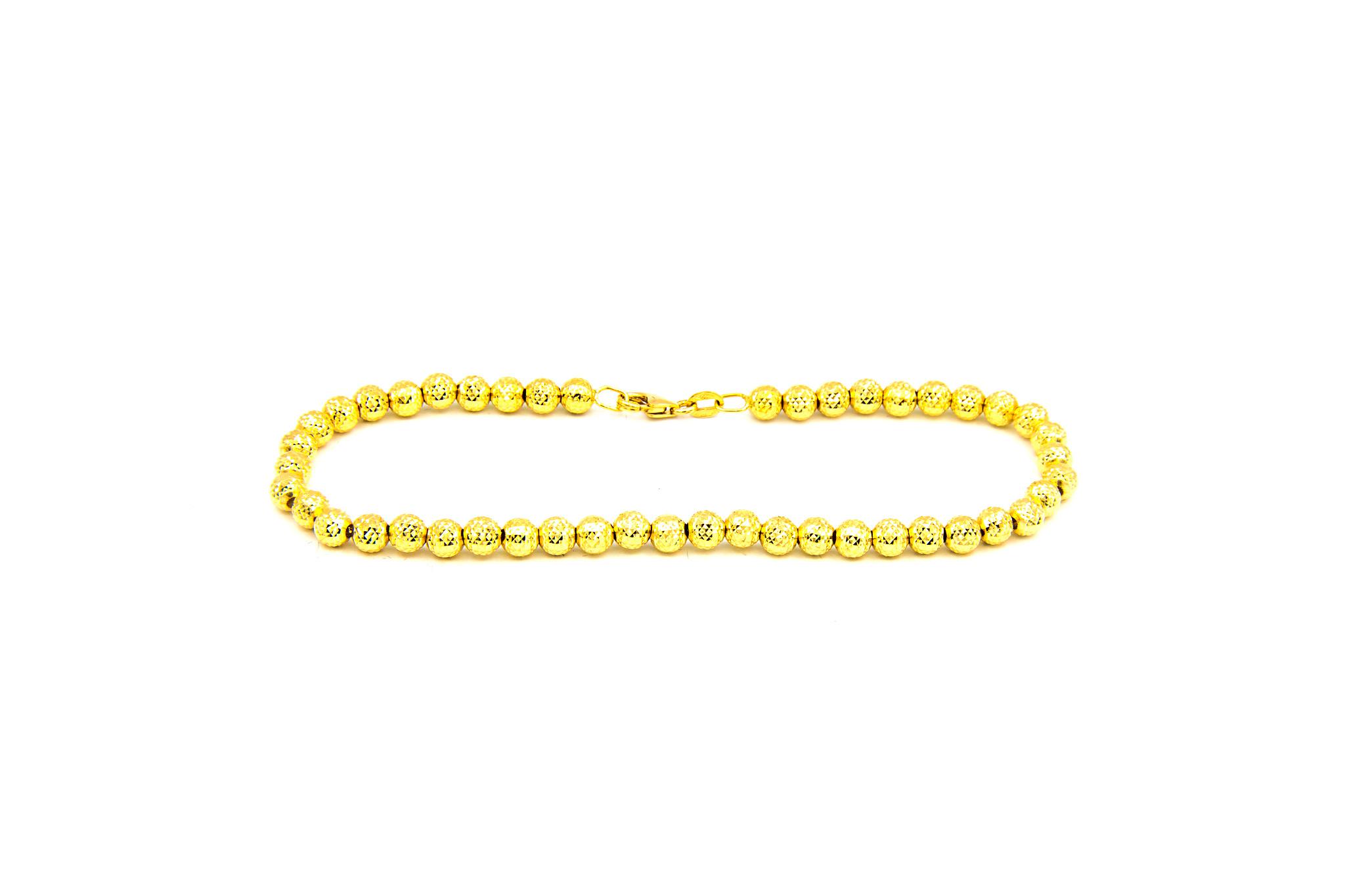 Armband met gediamanteerde kleine bolletjes-2
