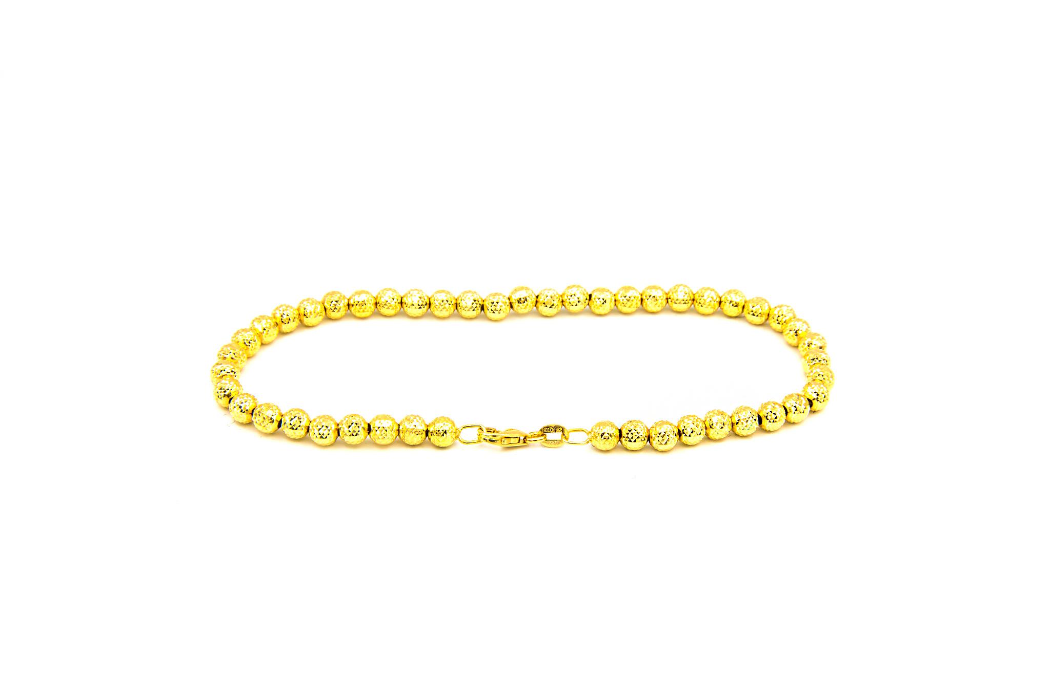 Armband met gediamanteerde kleine bolletjes-3