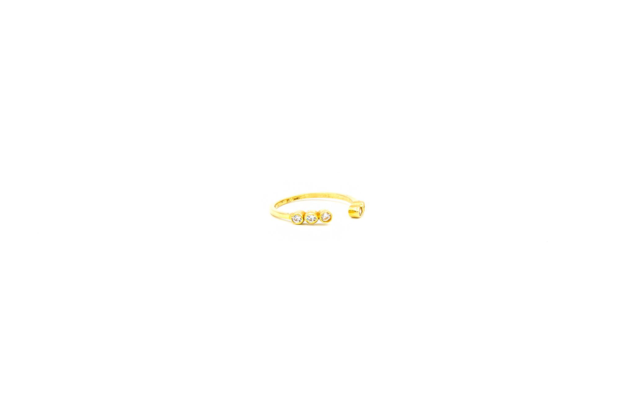 Ring open bezet met zirkonia's-3