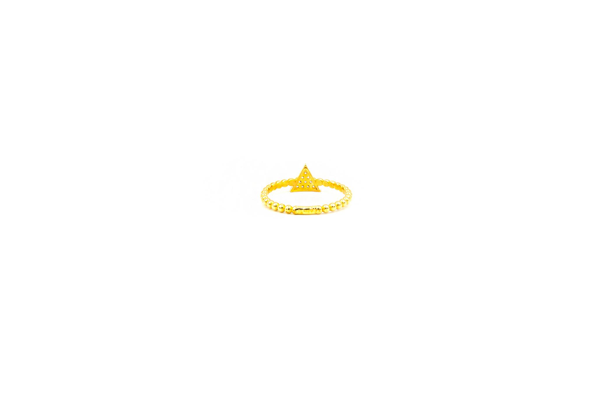 Ring aanschuif driehoek bezet met zirkonia's-4