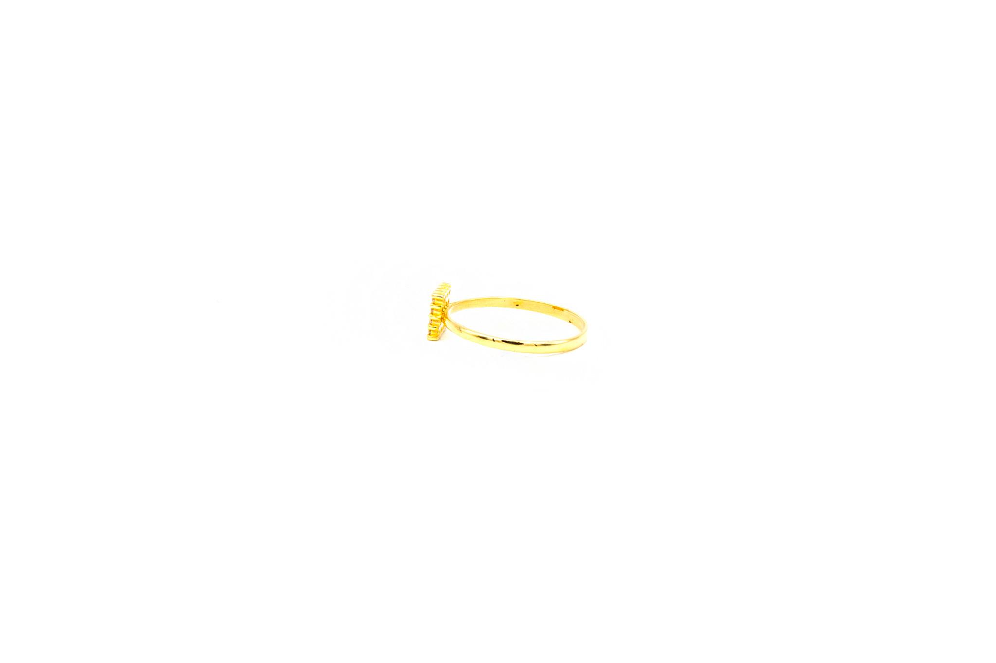 Ring vierkant bezet met zirkonia's-3