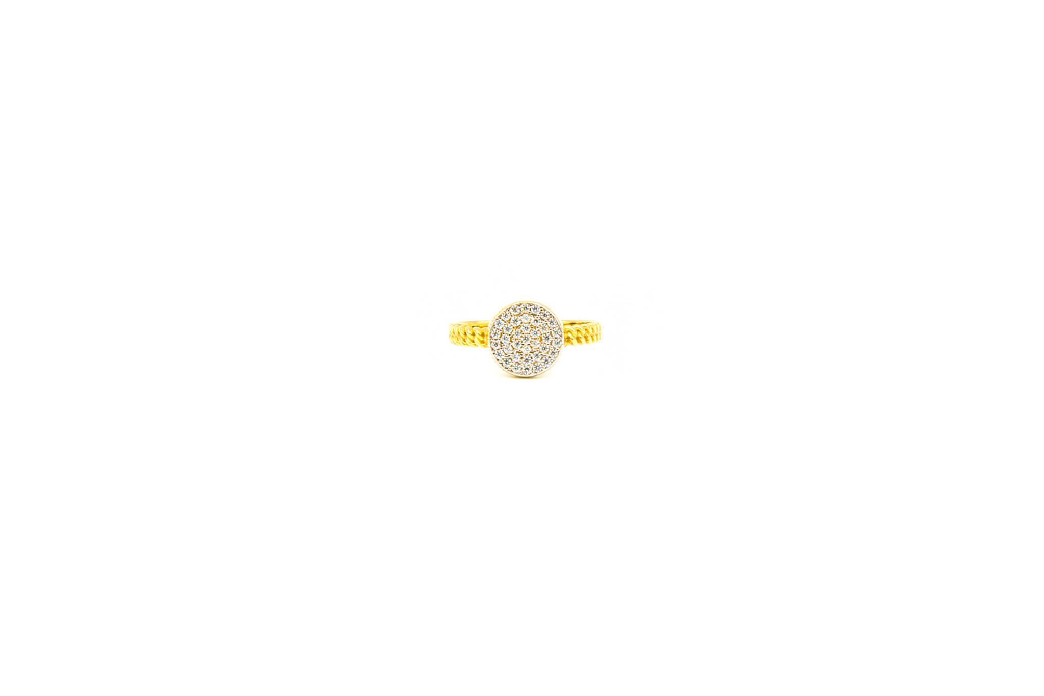 Ring rond bezet met zirkonia's-1