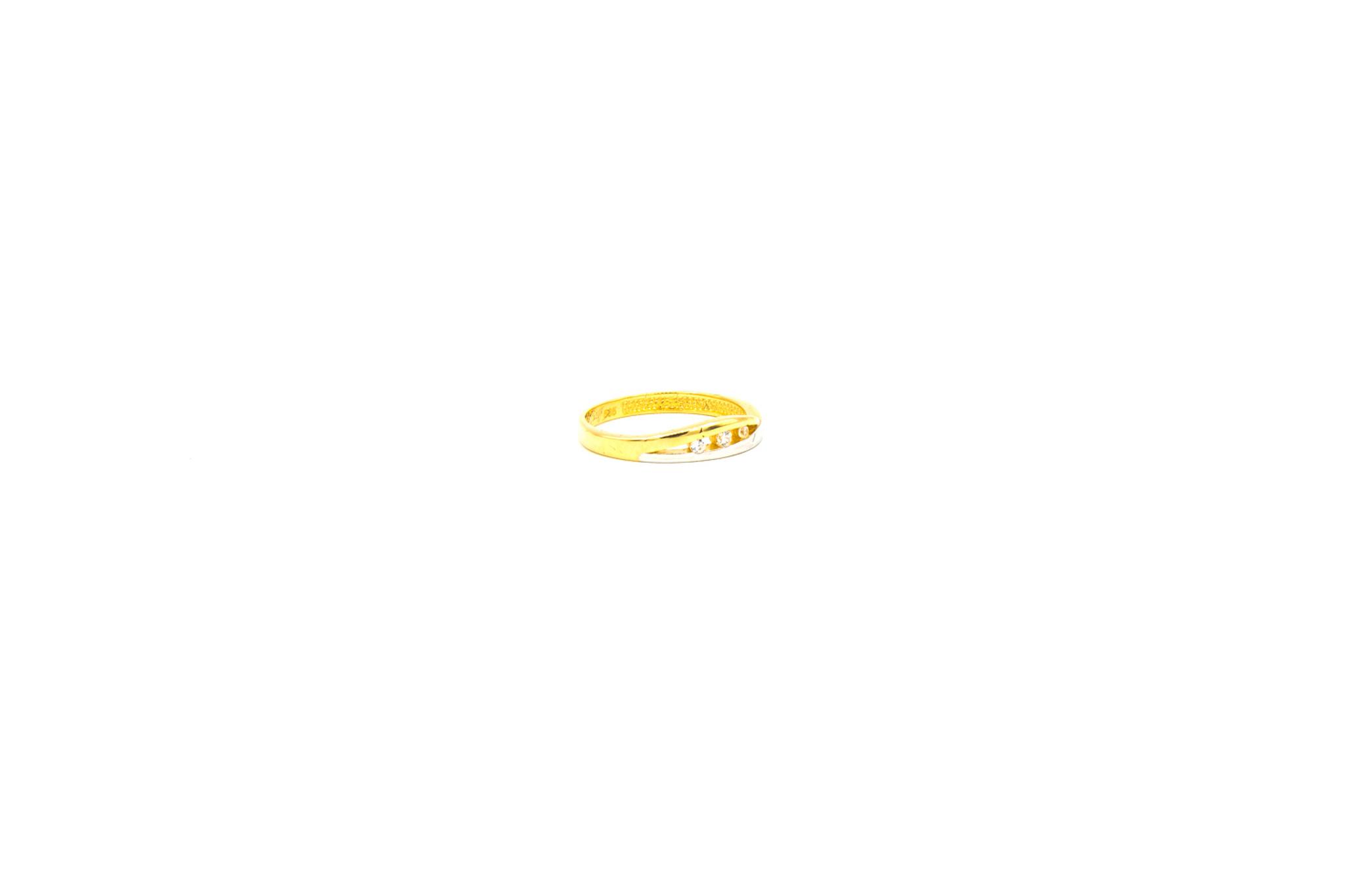 Ring slag bicolor bezet met zirkonia's-2