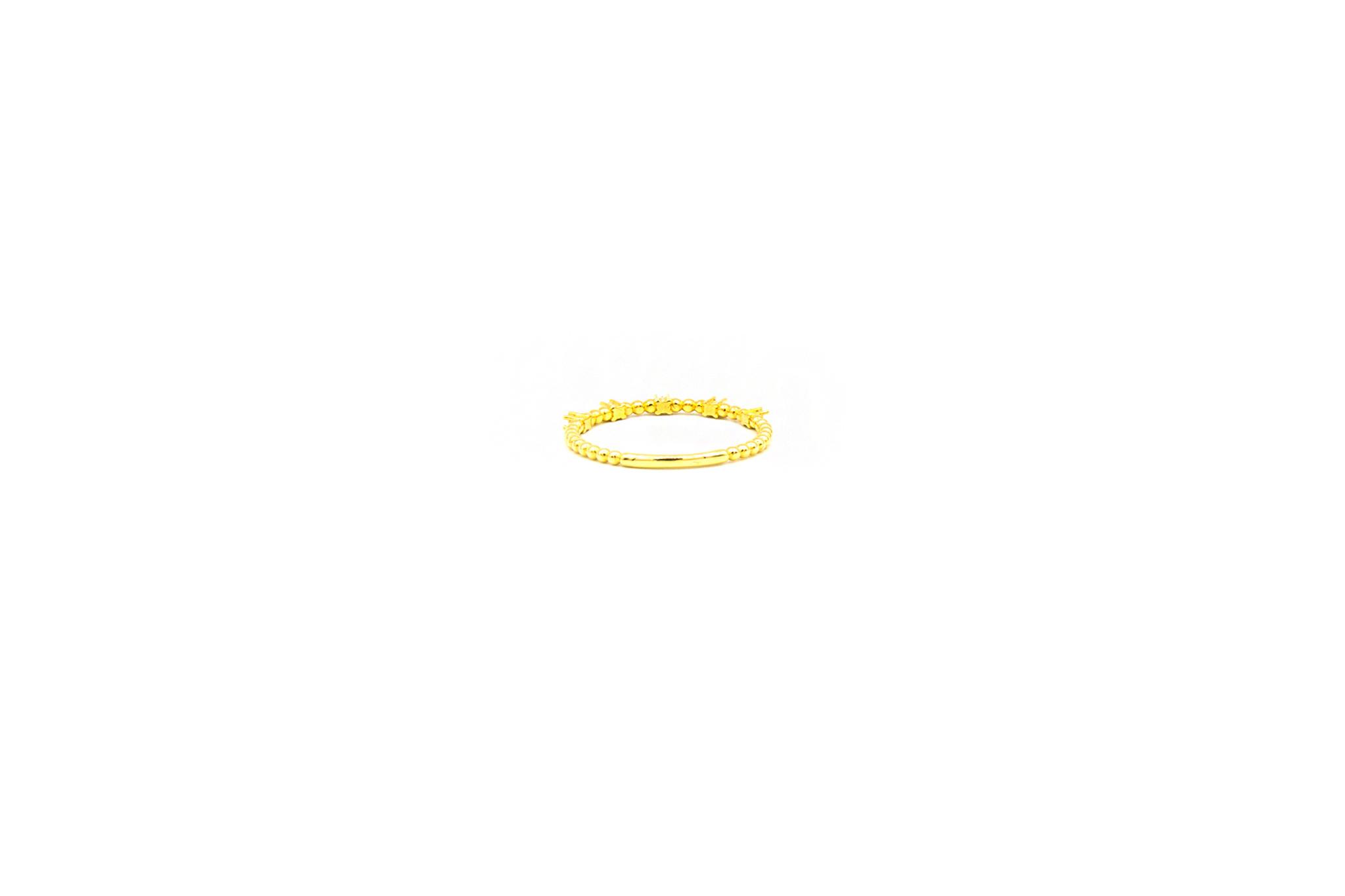 Ring aanschuif bezet met 5 zirkonia's-2