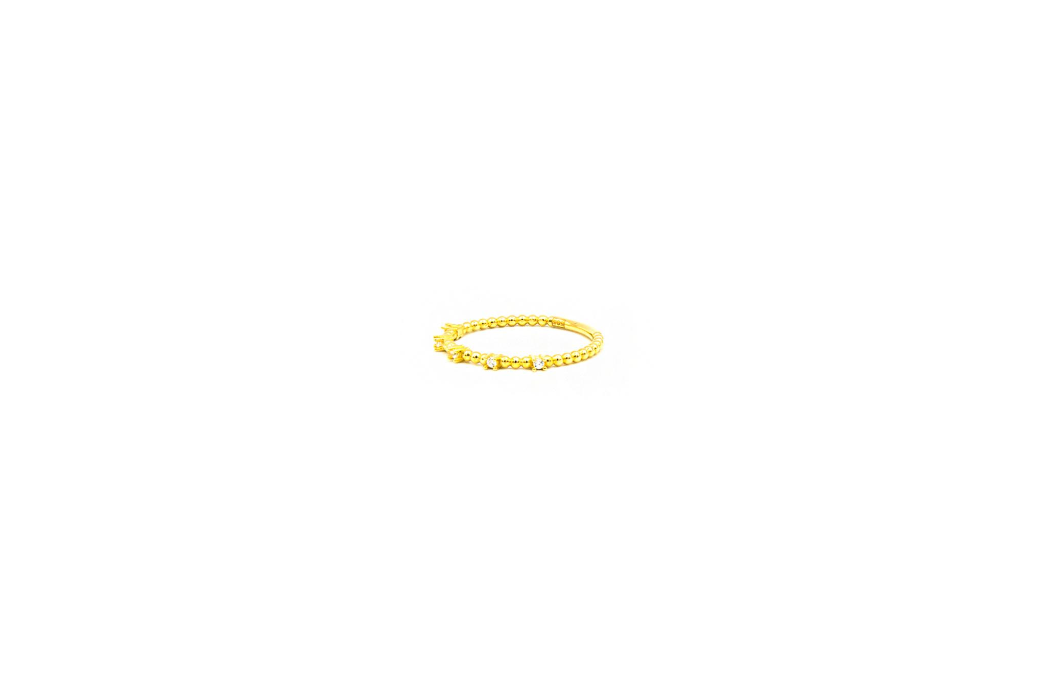 Ring aanschuif bezet met 5 zirkonia's-3