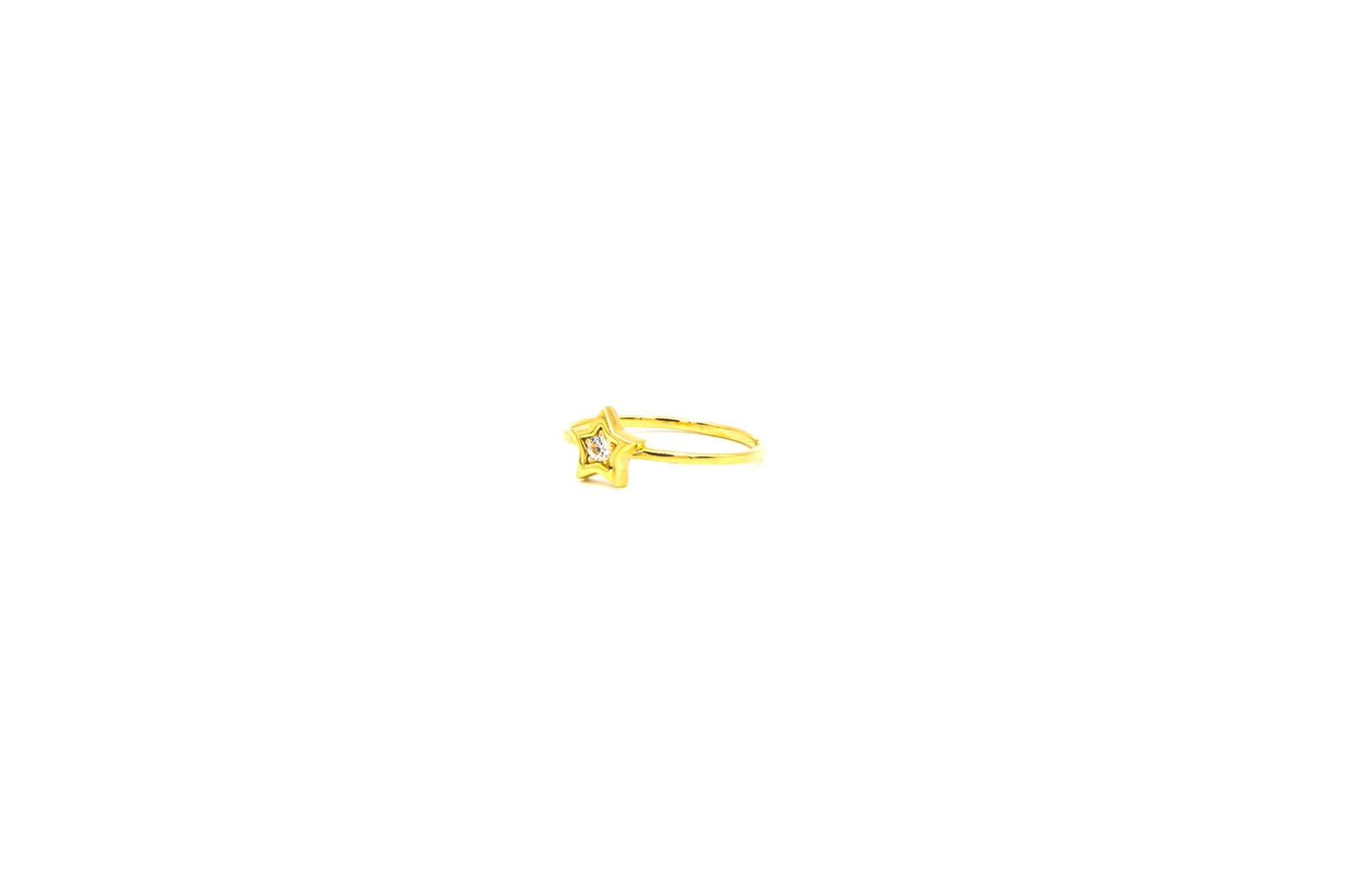 Ring solitair ster bezet met zirkonia-1