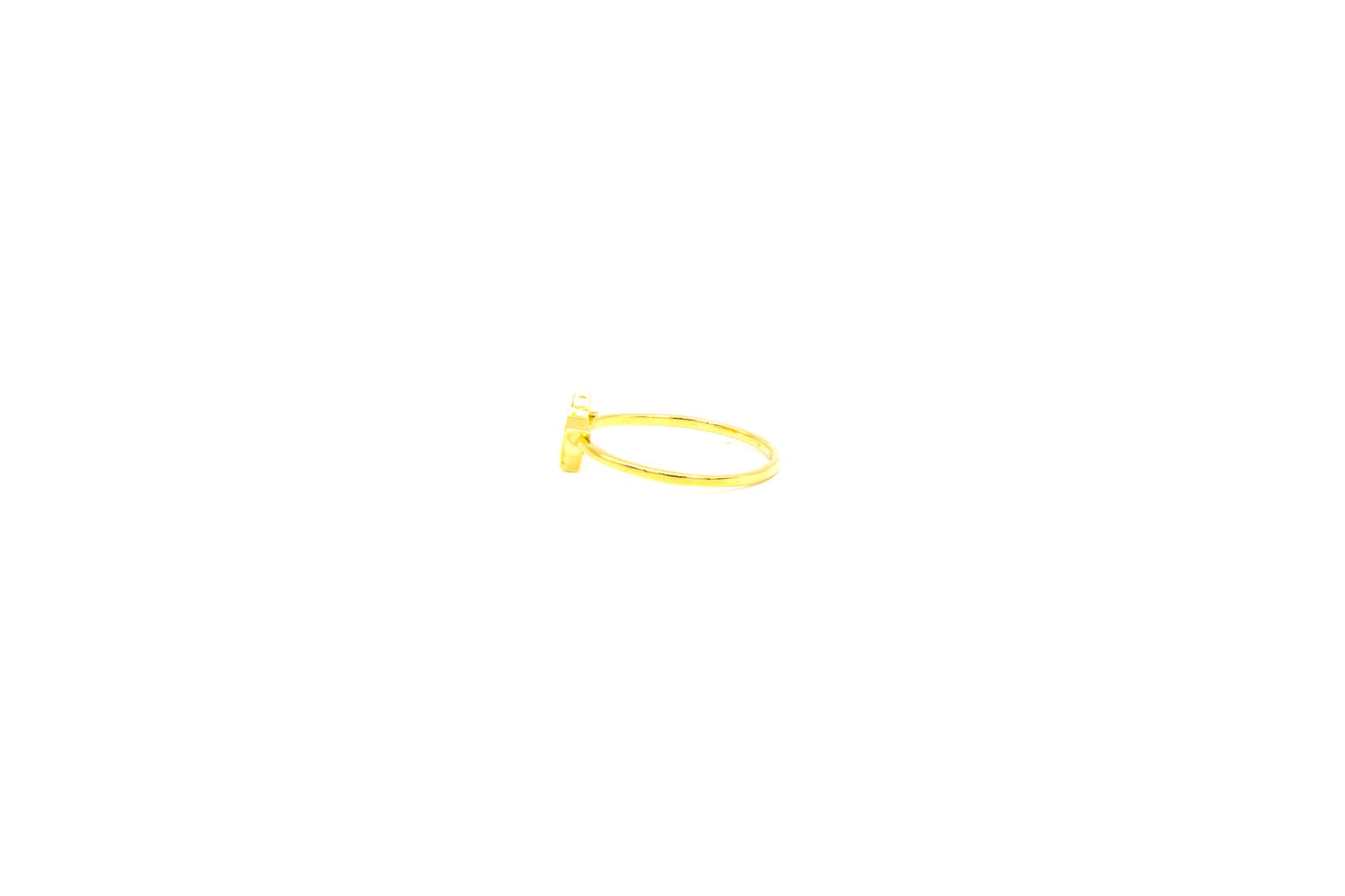 Ring solitair ster bezet met zirkonia-3