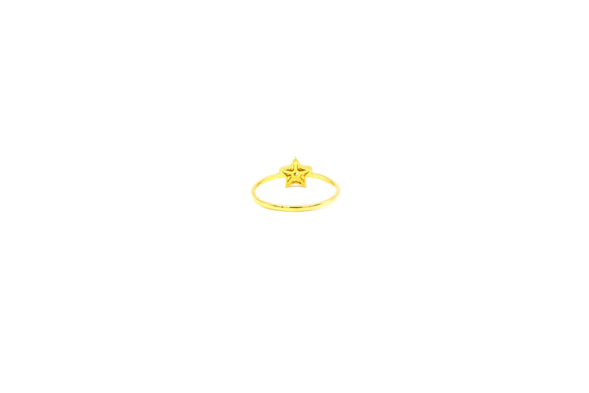 Ring solitair ster bezet met zirkonia-4