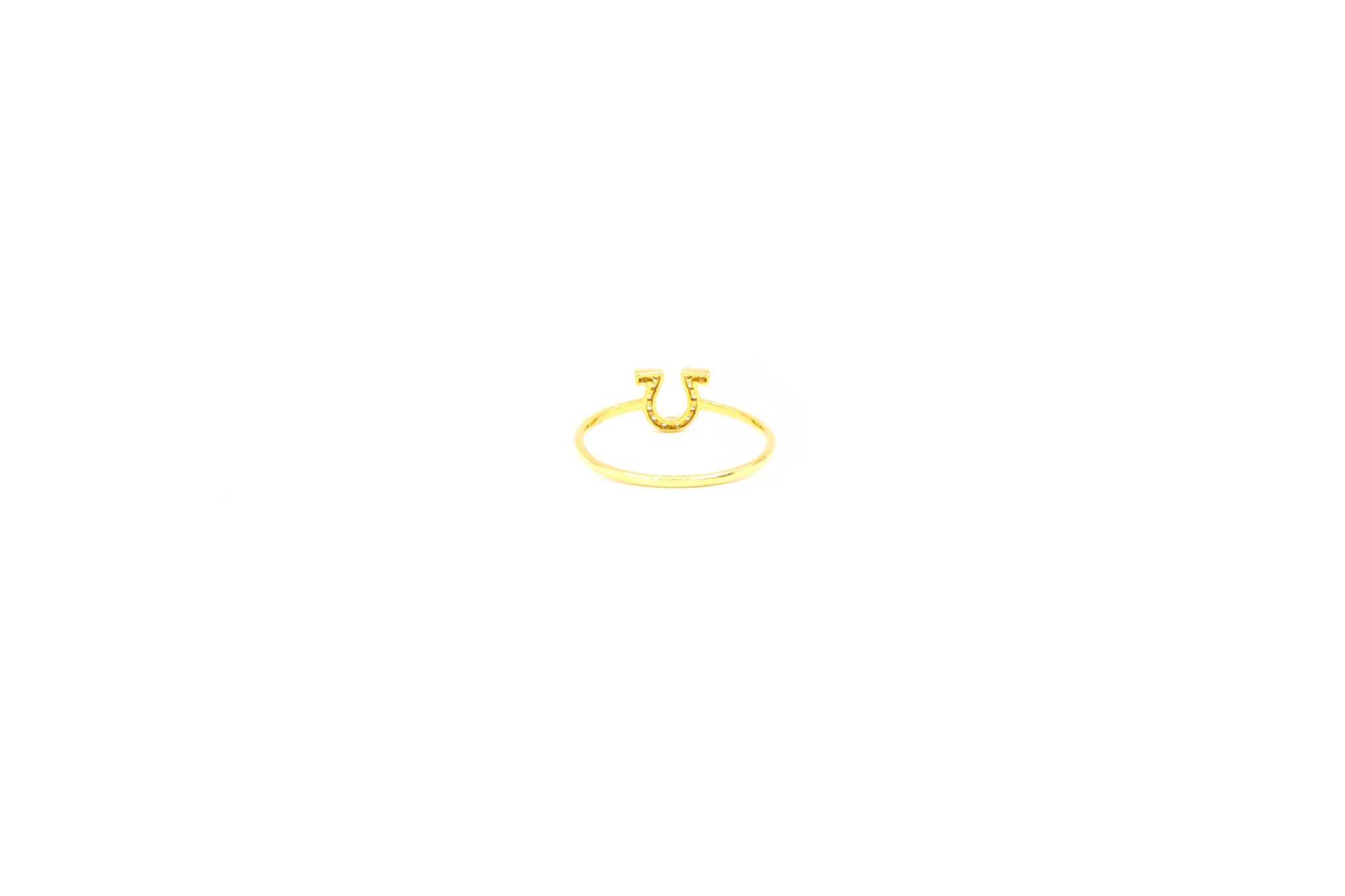 Ring Griekse omega alphabet bezet met zirkonia's-4