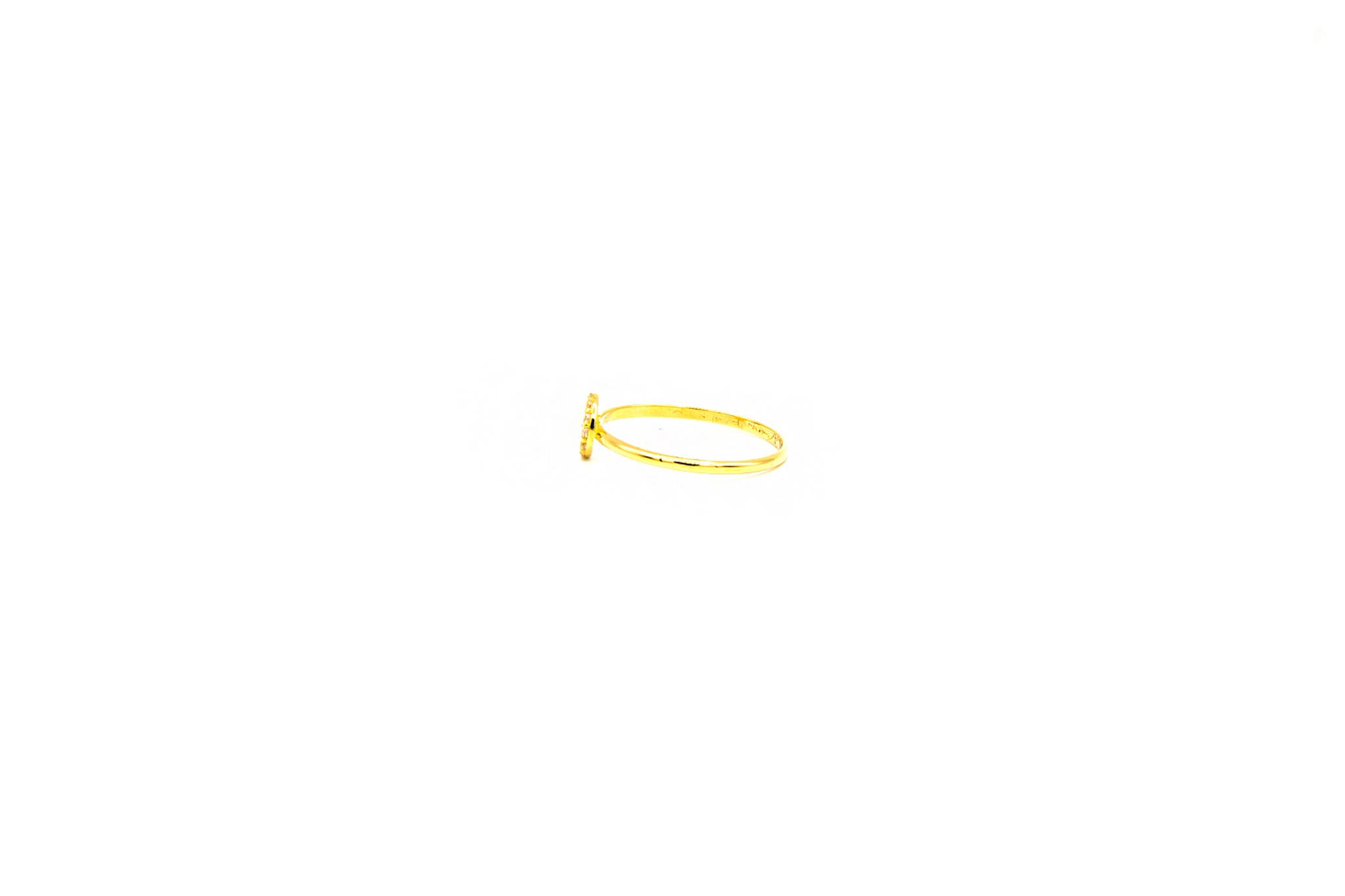 Ring ronde pavé bezet met zirkonia's small-3